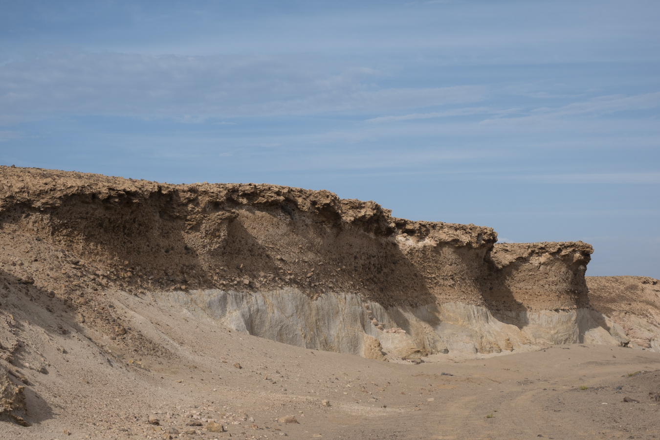 The dry Messum riverbed.     When it rains, water will come from the Messum Crater into the riverbed. The crater was named after Captain W Messum, who was an explorer of the coastal regions of Southern Africa from 1846-1848.