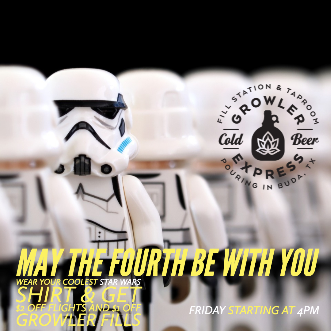 Are you a Star Wars Fan like us? Bring anything Star Wars on Friday & get rewarded! May the Fourth Be With You!