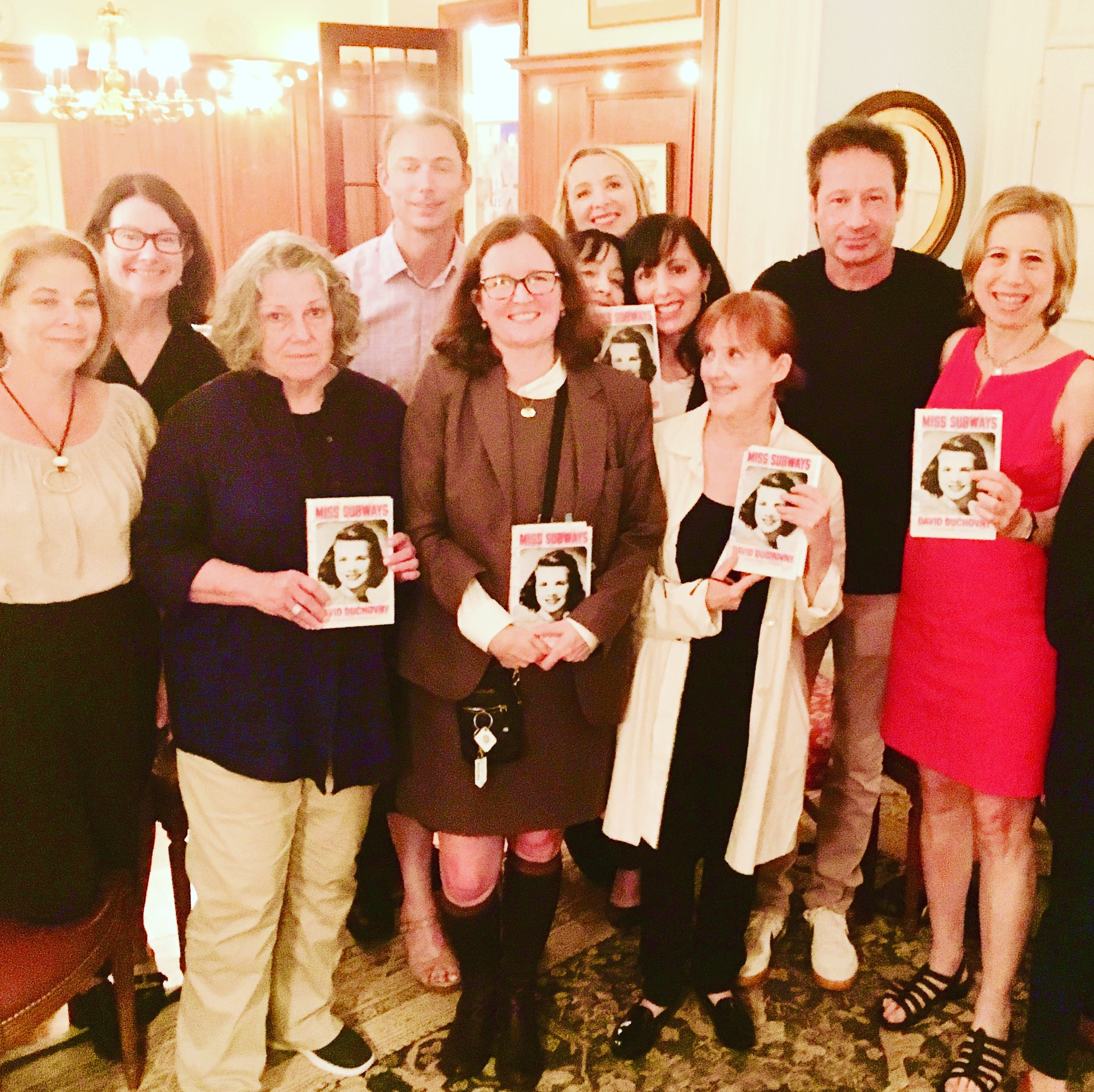 David Duchovny at his Pop-Up Book Group for MISS SUBWAYS.
