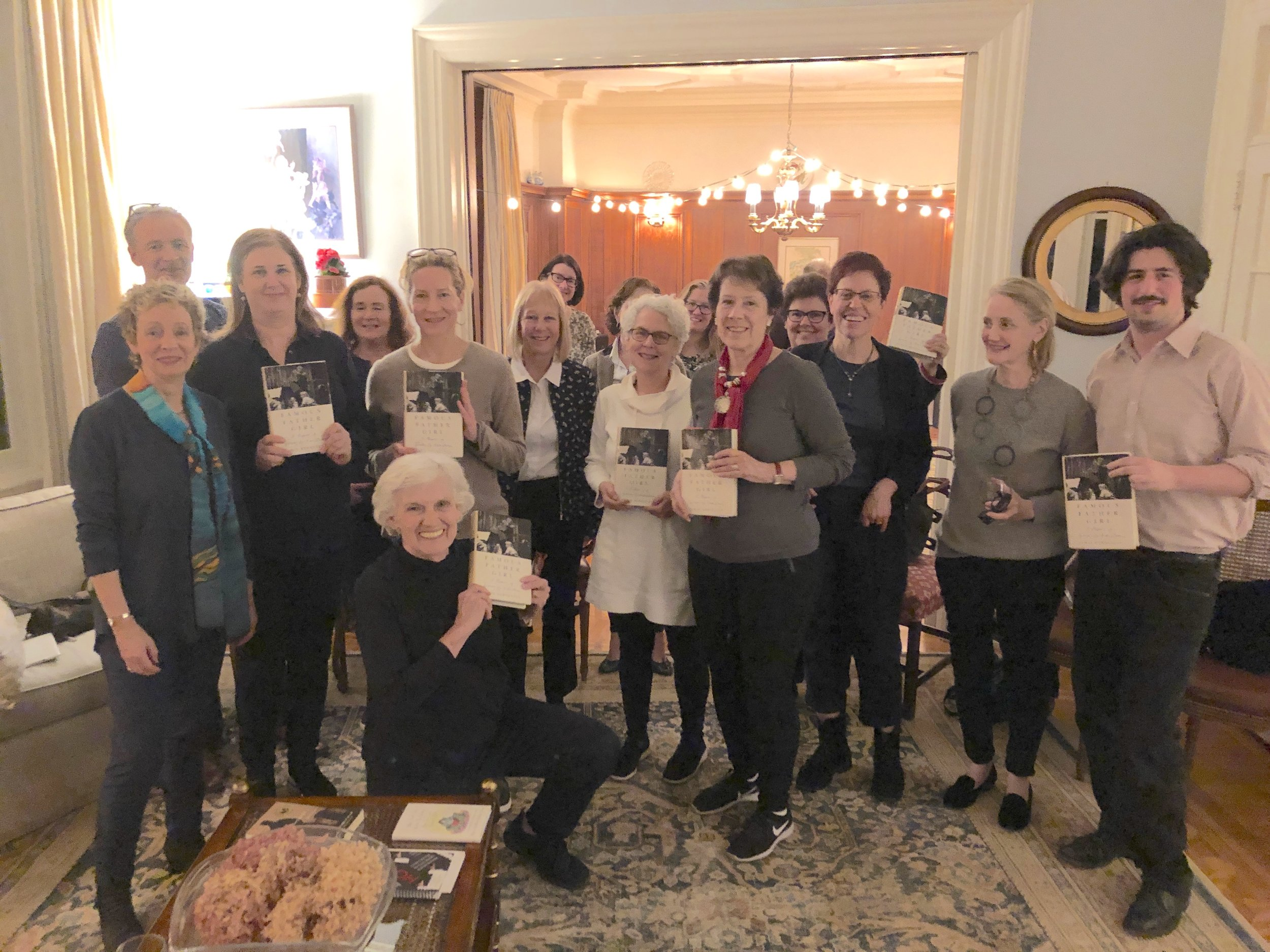 Memoirist Jamie Bernstein at her book group for FAMOUS FATHER GIRL