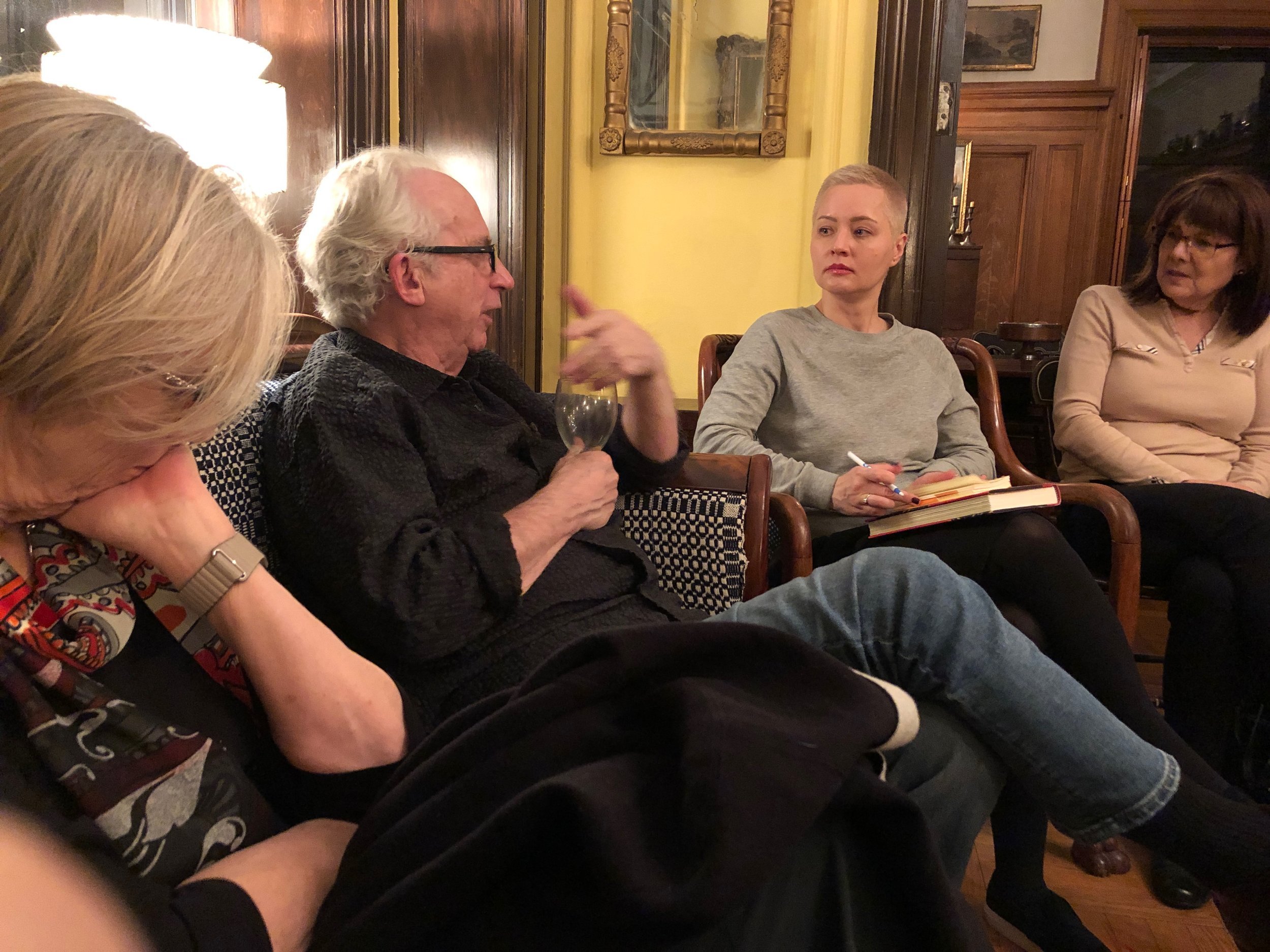 Novelist Peter Carey discusses his novel A LONG WAY FROM HOME