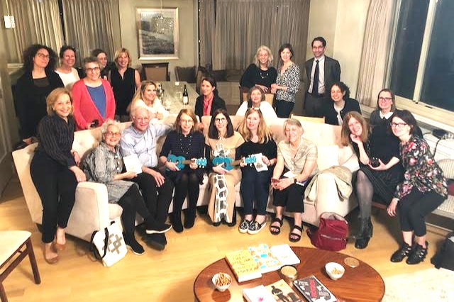 """Authors Roz Chast and Patricia Marx (with ukeleles!) at their Pop-Up Book Group for """"Why Don't You Write My Eulogy Now So I Can Correct It?"""""""