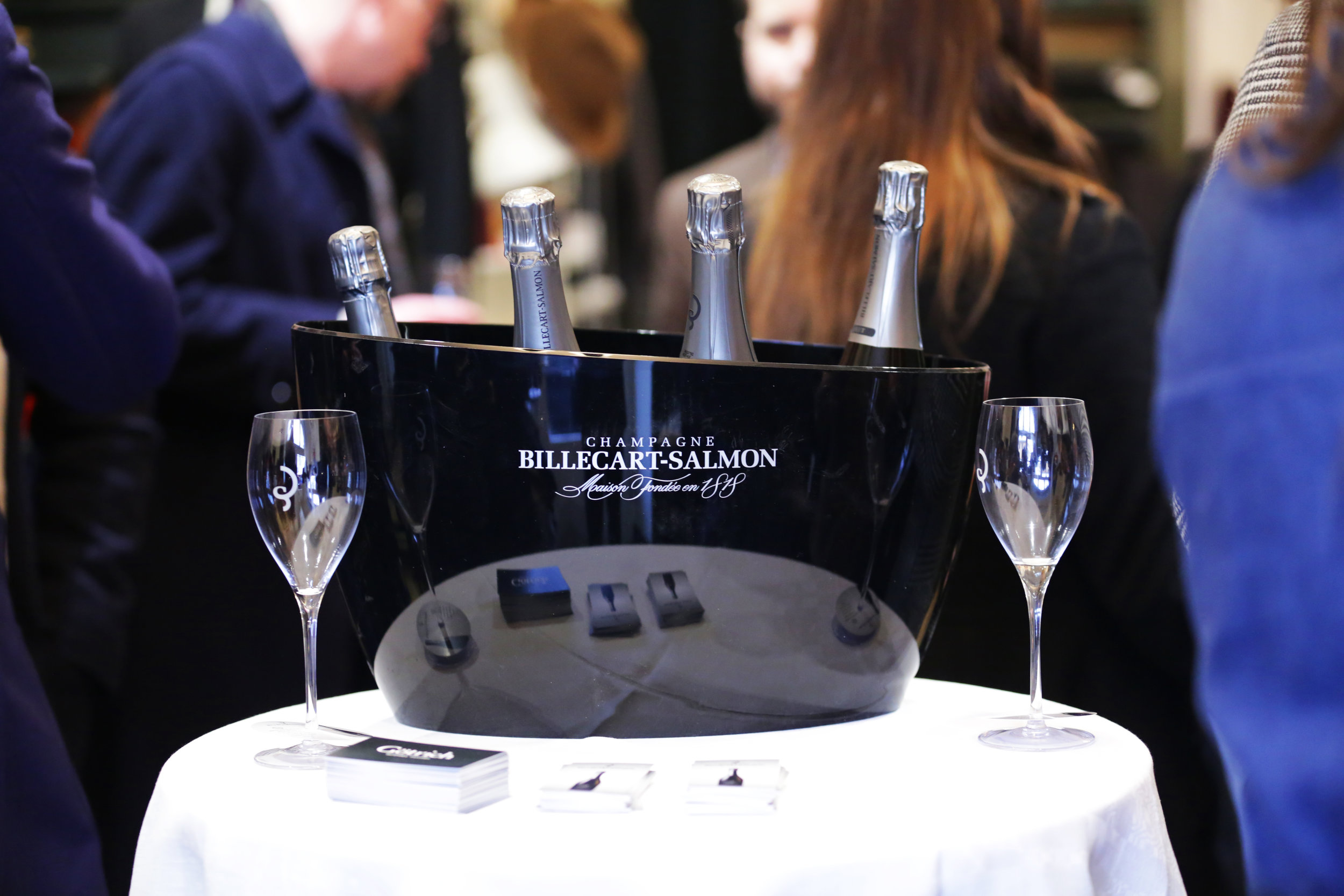 Champagne and rosé from Billecart-Salmon/Lively Wines.