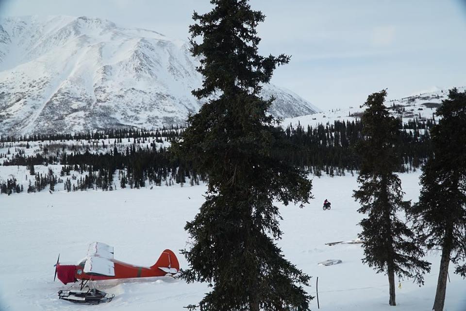 Troy Szcurkowski leaving Puntilla Lake/Rainy Pass Lodge today. Image Kyle Durand