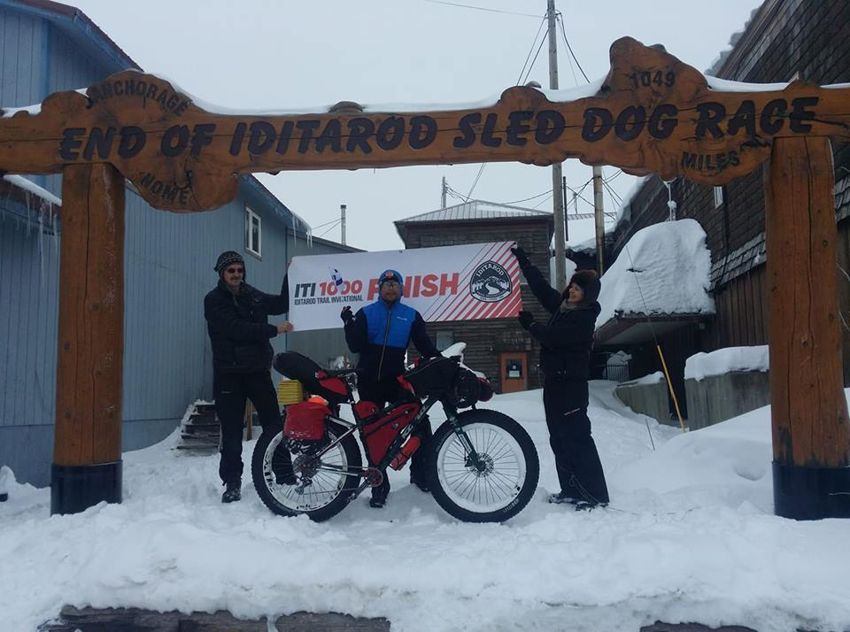 Toni Lund from Finland finisher in Nome today