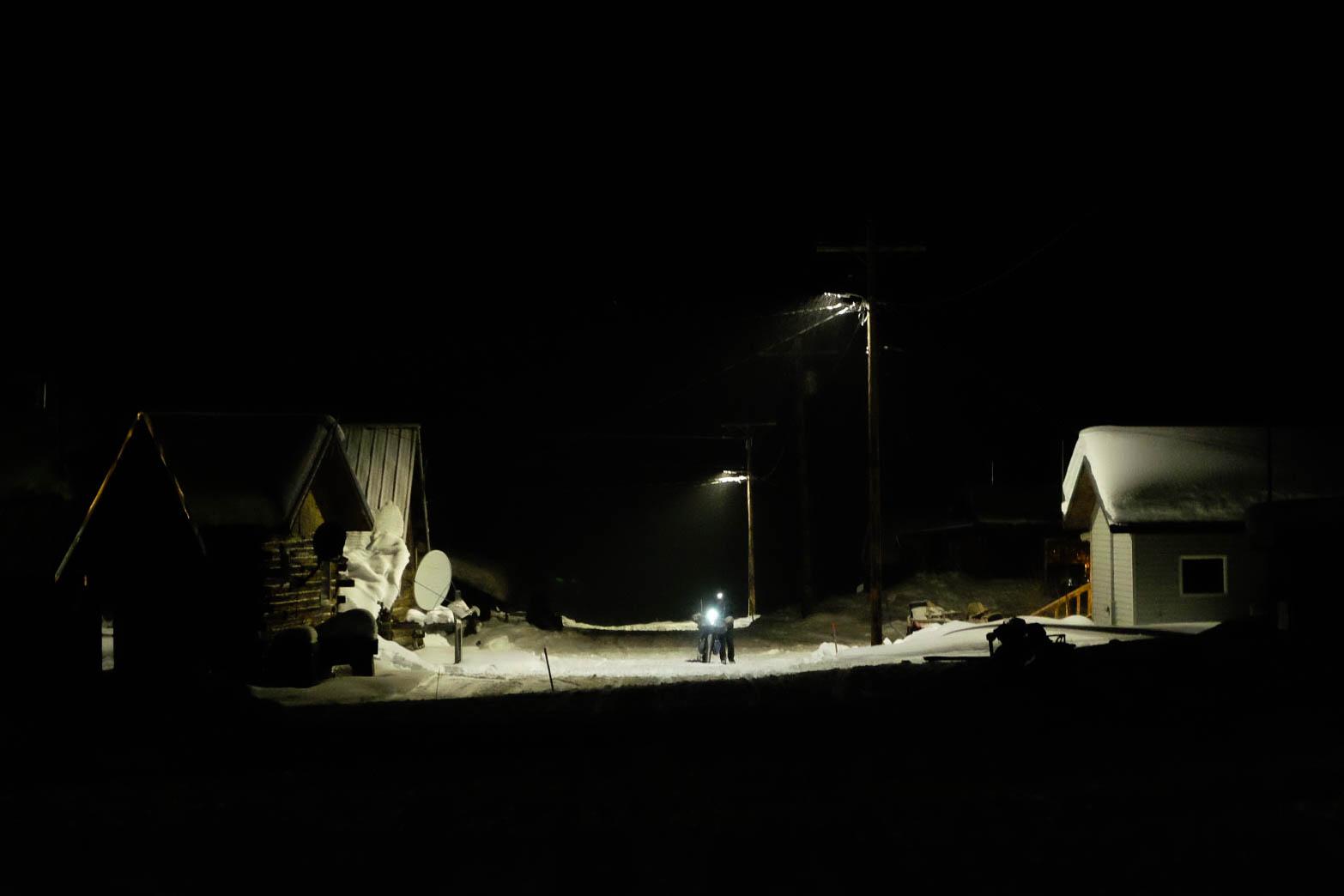 Steve Cannon arrives in Kaltag at 1am  📷 Nicholas Carmen