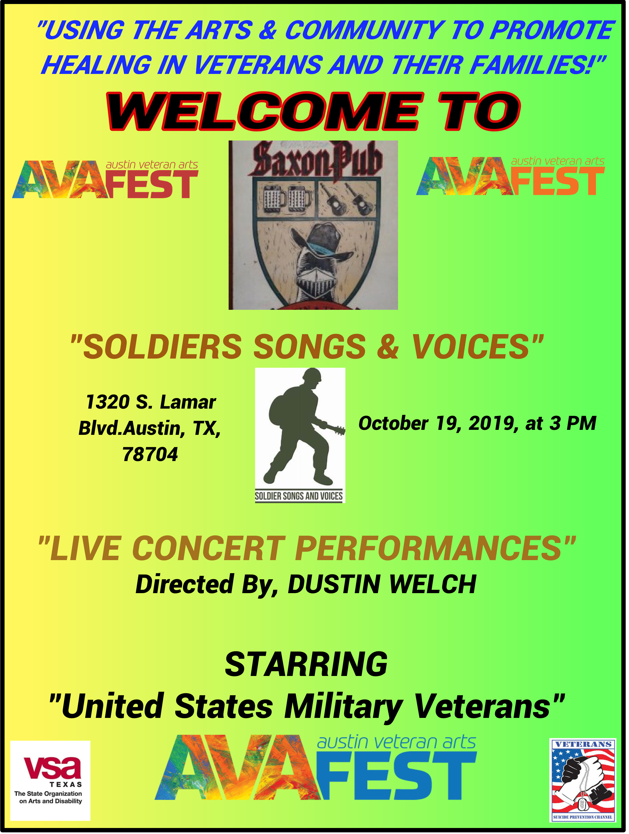 If you've never have seen Soldiers Songs and Voices. Dont Miss This! - Veterans sing new songs they wrote.
