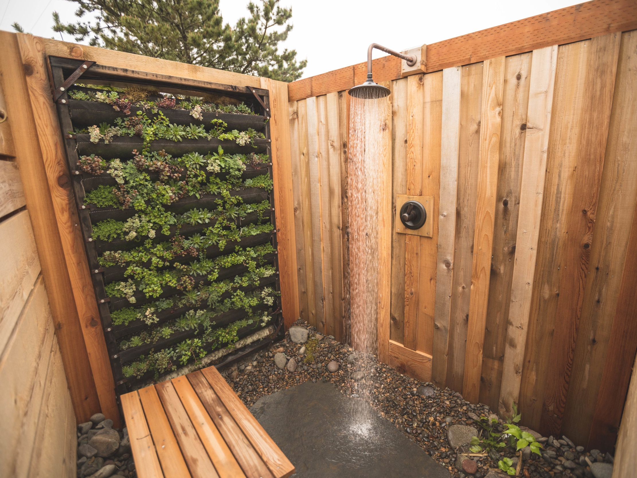 OUTDOOR SHOWERS - IN ADDITION TO YOUR INDOOR AIRSTREAM SHOWERS