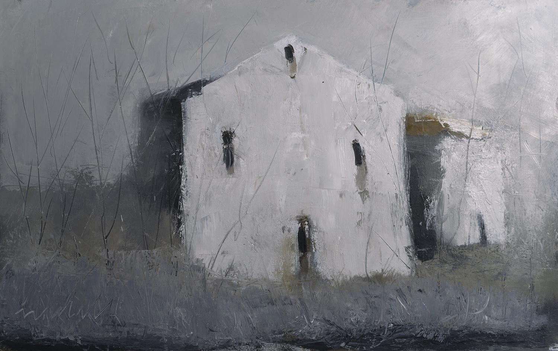 Suspended Stillness, Oil on Paper