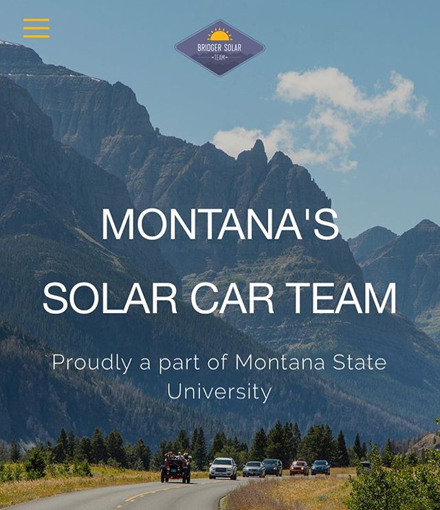 Starting Monday, January 14th, Bridger Solar Team will be Meeting in Norm Asbjornson Hall 337! Come on in at 6:00pm to be apart of Montana's very own Solar Car Team. All Majors welcome!