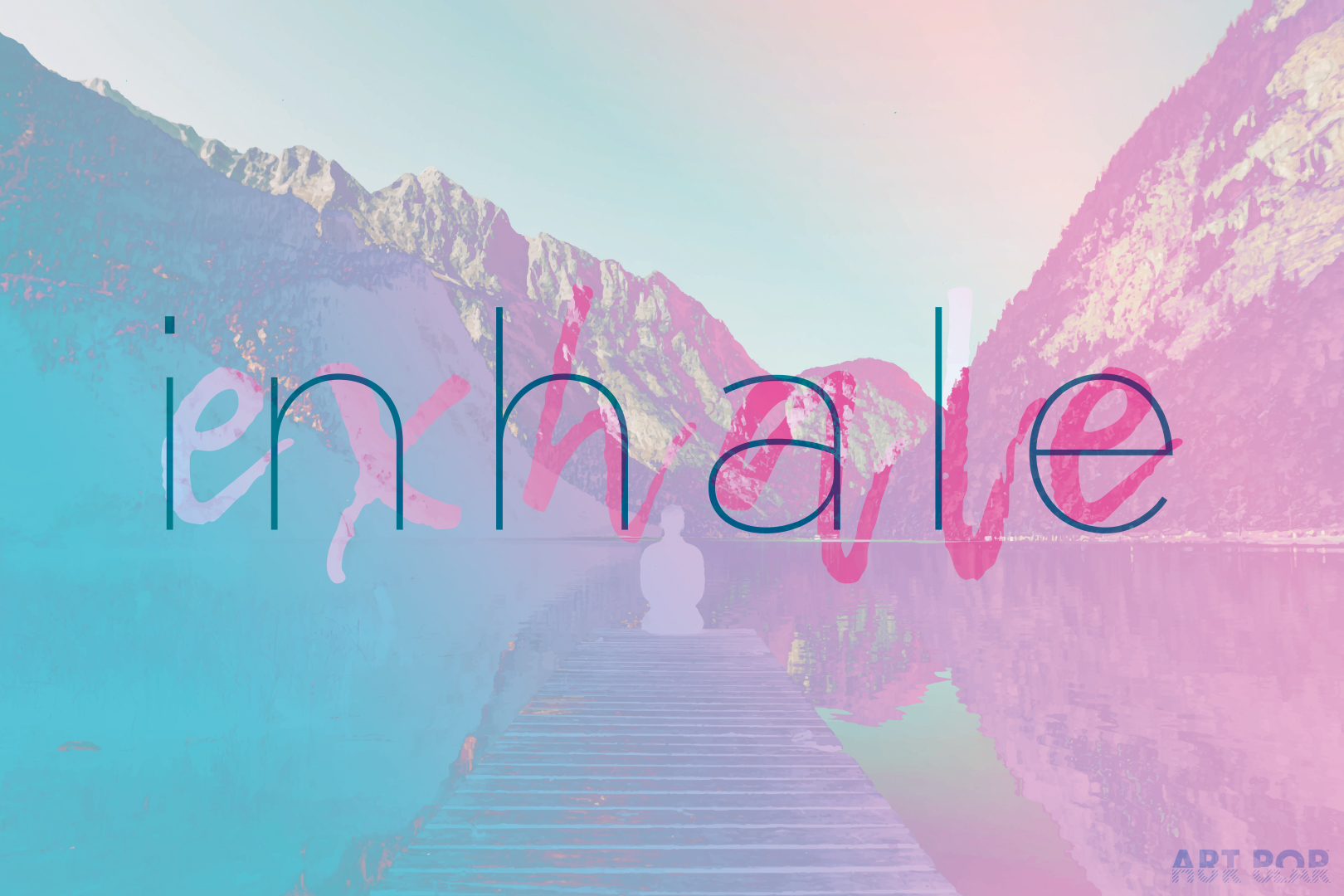 Inhale / Exhale - The final piece in a series of five, preceded by Learn / Listen, making up a motto of sorts that's been swimming in my head for many years. Available via: DeviantArt | Redbubble | Society6