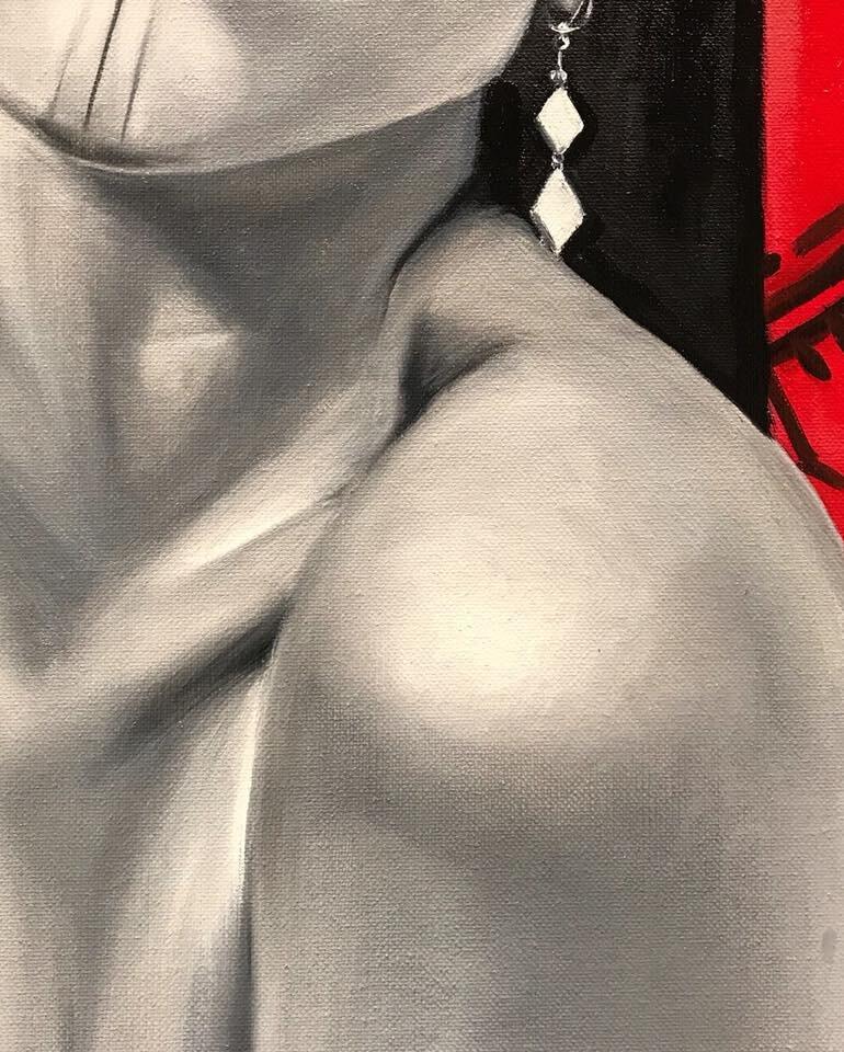 [Detail] 'Untitled (Self Portrait)' oil on canvas; 2x3 ft (2017)