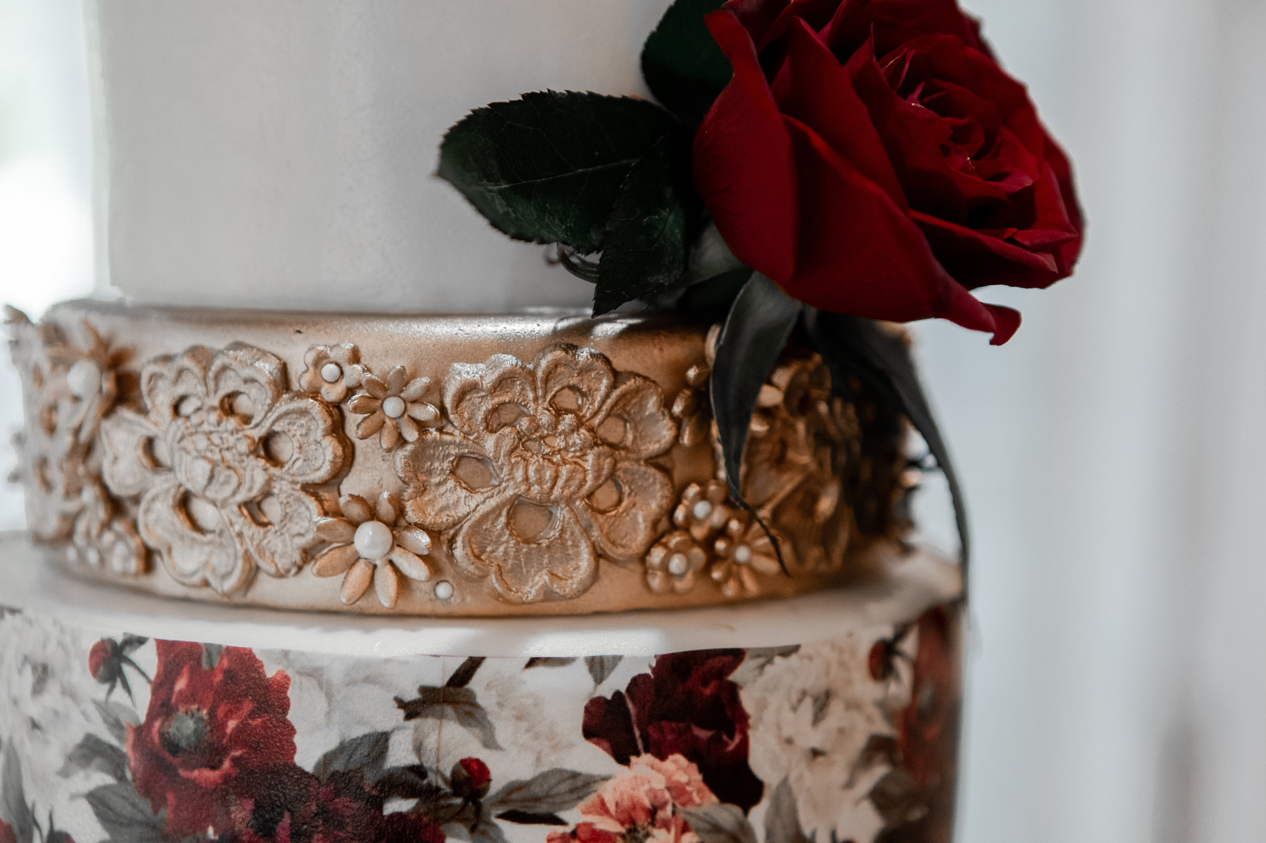 Moody Red + Gold Wedding -