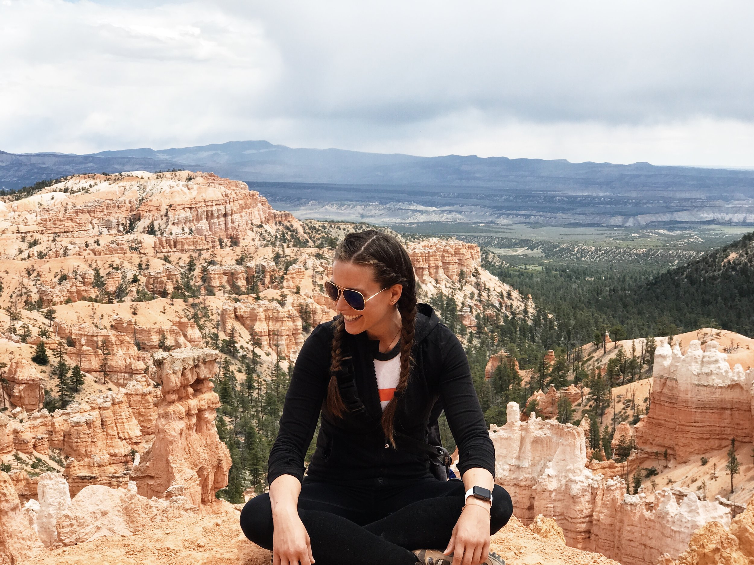 This is Bryce Canyon, it's freaking beautiful. Also we hiked 10 miles right before I got a last minute self-tape request back at our hotel...