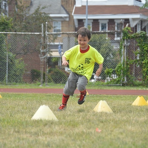 Eyes on the prize. Summer soccer camp!