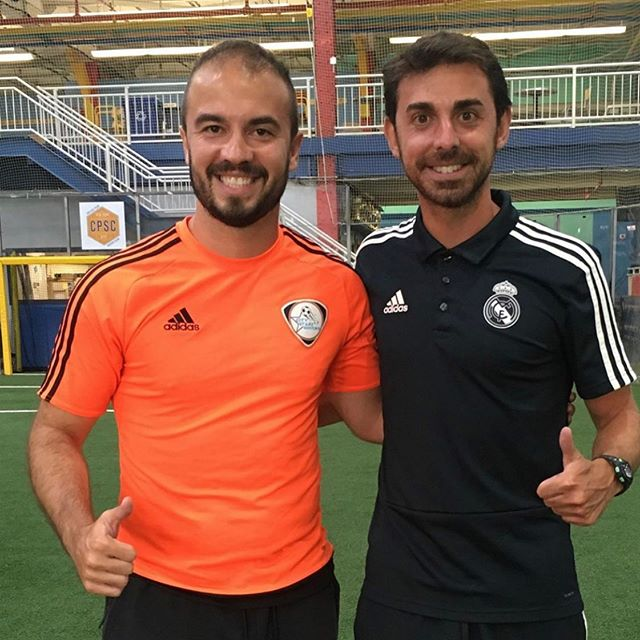 Coach Arthur furthering his education with the Real Madrid Foundation on the Methododologies of Style of Play and training session organization #soccercoach #education @realmadrid