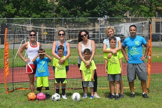 Parents joining in on the action! #soccerfun #soccerparents #soccermom #queenskids