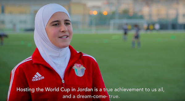 """""""After FIFA lifts hijab ban, muslim women soccer players hit the field."""" During the inaugural match of the 2016 Under-17 Women's World Cup, hosted by Jordan on September 30, an event occurred that elevated the moment into the history books of women's football: Two players wore headscarves on the pitch. By Shireen Ahmed. October 14, 2016. Bitch Media"""