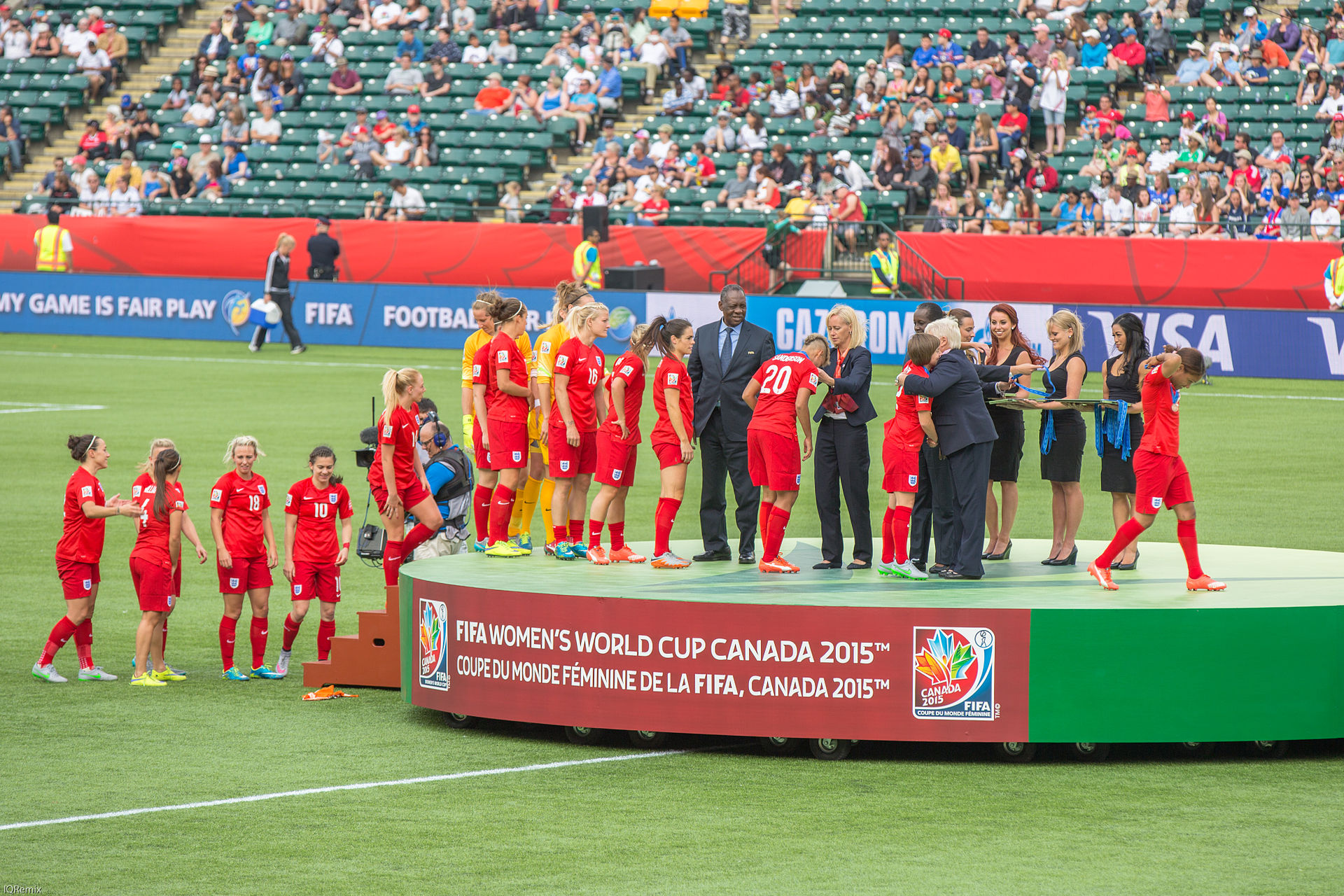 """""""Women's World Cup May Seem Like a Feminist Fairy Tale, But the Fight's Not Over."""" Despite the joyful ending for the U.S. Women's National Team and the increased media attention toward women's soccer, there is far more to achieve and attain for equality within the game. By  Shireen Ahmed. July 10, 2015.  Rewire News."""