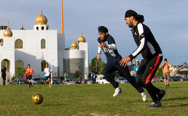 """""""FIFA panel officially allows turbans, hijabs in soccer after Quebec controversy."""" Soccer's international rule-making body has given a final go-ahead to allow players to wear religious head coverings during games, clarifying an issue that stirred controversy in Quebec last summer. March 1, 2014.  Canada.com"""