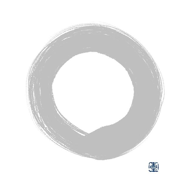 "©Janine Ibbotson, ""Perfect As It Is,"" digital drawing, 2018. I drew this enso in the opposite direction of my usual brushstroke.⠀⠀⠀⠀⠀⠀⠀⠀⠀ .⠀⠀⠀⠀⠀⠀⠀⠀⠀ #enso #ensō #zencircle #circle #meditation #beherenow #mindfulness #dharmaart #artistsofinstagram #artlife #artstagram #contemporaryartists #boulderartist #instaartwork #instagramart #worldofartists #janineibbotson #mindfulbrushworks"