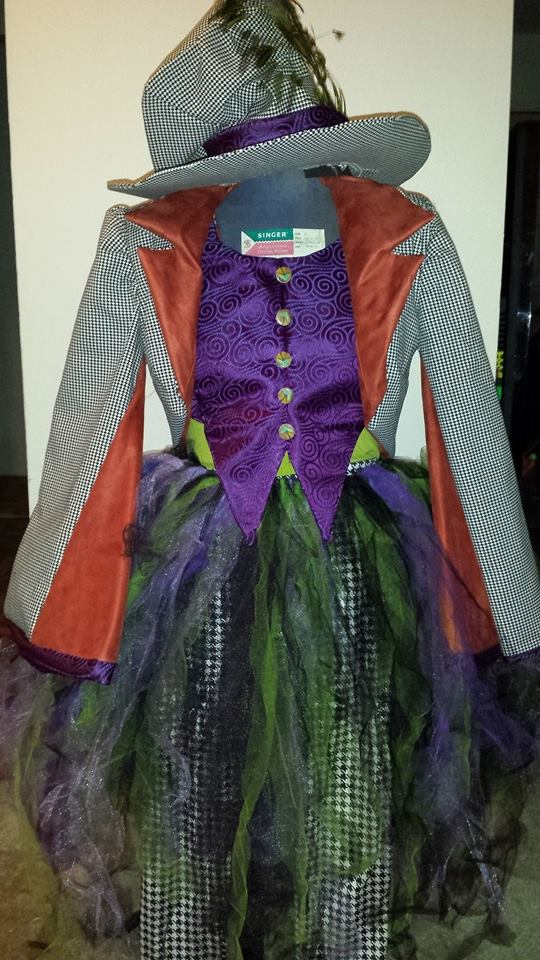 Staff member Je'Tone used the Maker Works  sewing machines to create this wonderful Mad Hatter costume.