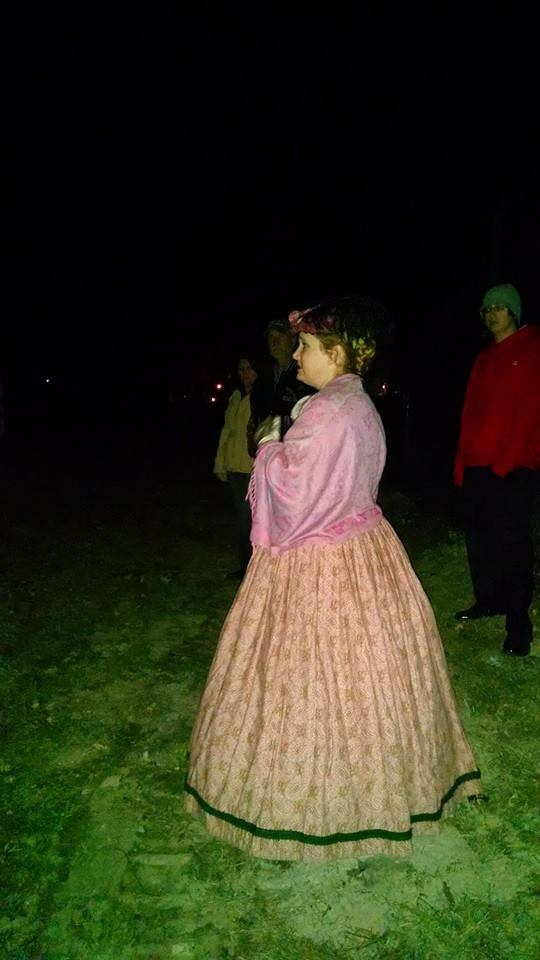 During our ghost tour on the battlefield.
