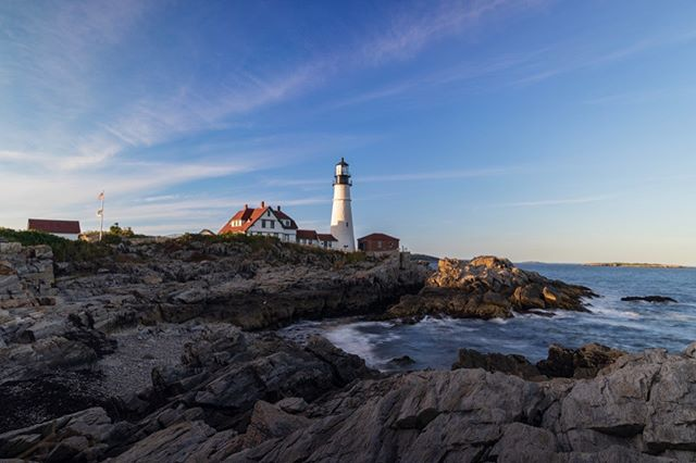 In Maine • • • • #lighthouse #lighthouselove #lighthouses_world #portland #maine #ocean #oceanside #summer #end #autumn #sunset #goldenhour #landscape #lanscapephotography #sony #sonyalpha #roadtrip #adventure