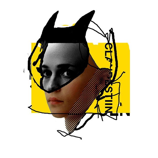 inspired by one of my fav movies =^‥^= . . . #artproject #漫画家 #可愛い #illustration #collage #design #retro #digitalart #vintage #mixedmedia #clandestiin