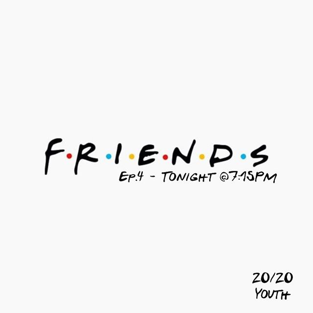 It's Friday my dudes! You know what that means... 20/20 YOUTH is ON tonight! Tune in at 7:15pm at 12039 SW 132nd Ct. don't forget to bring a friend (and your questions) to tonight's final episode of F•R•I•E•N•D•S Q&A edition! See you there! :)
