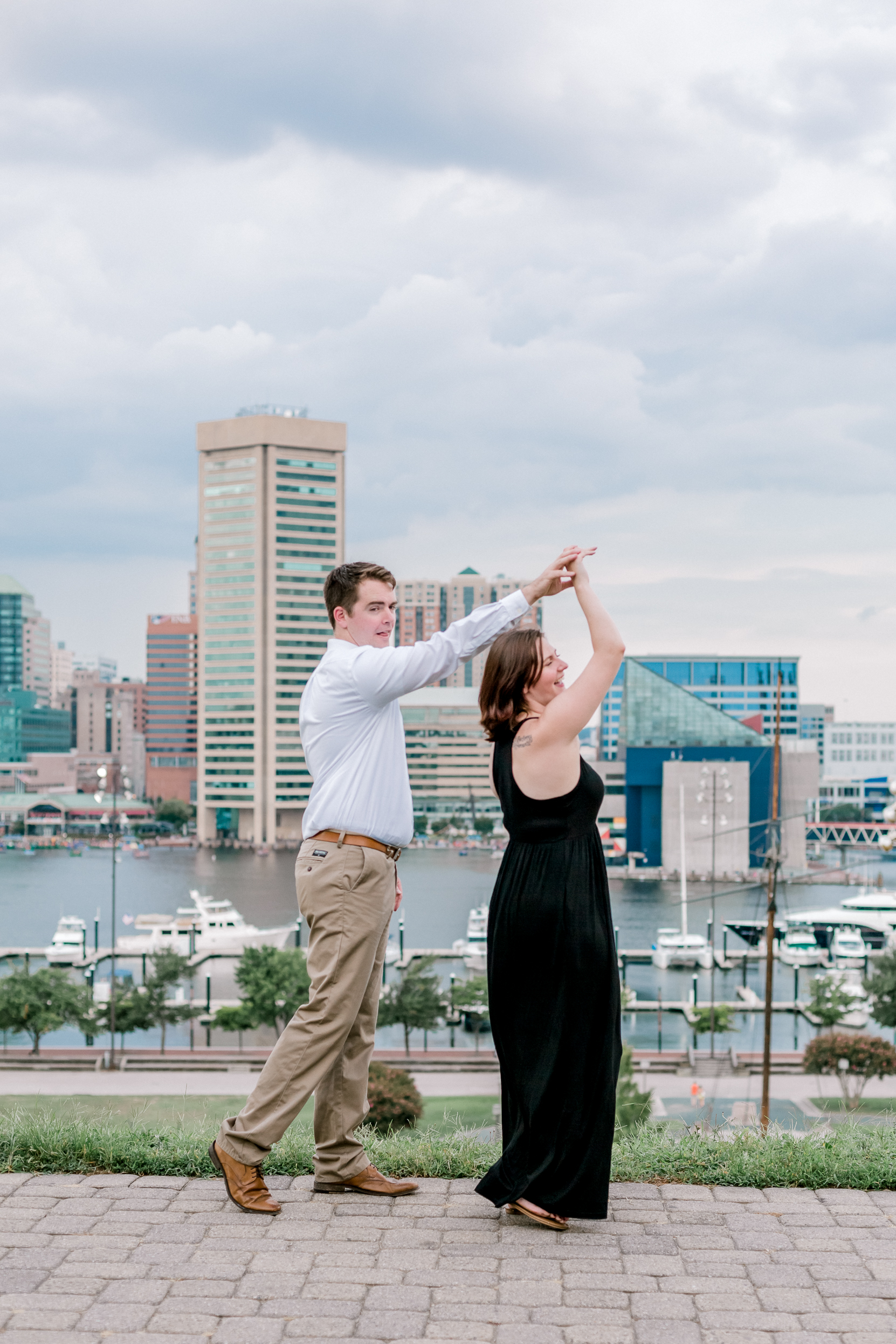 Baltimore Federal Hill Park Stormy Engagement Session Lytle Photo Co (84 of 92).jpg