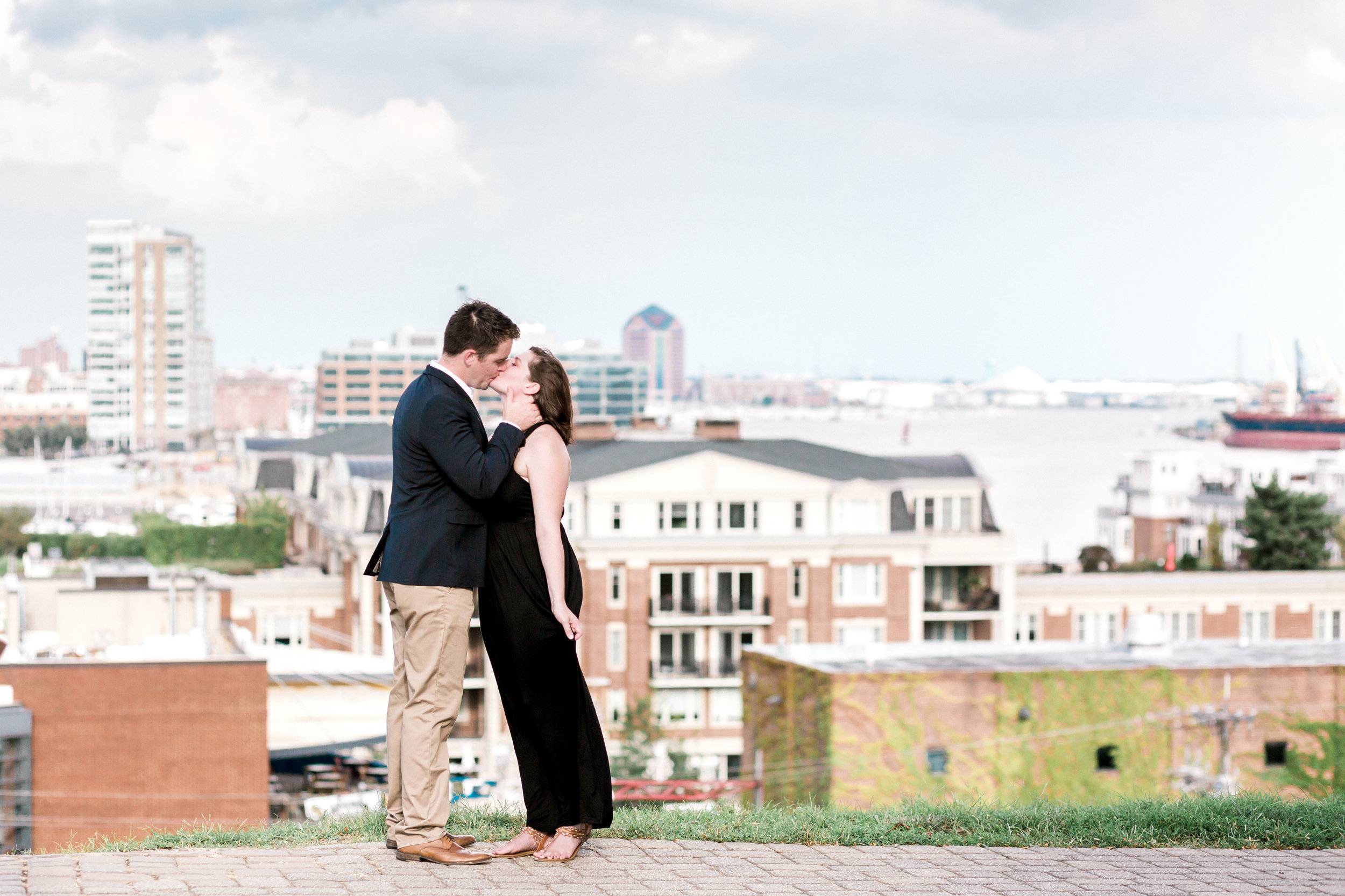 Baltimore Federal Hill Park Stormy Engagement Session Lytle Photo Co (71 of 92).jpg