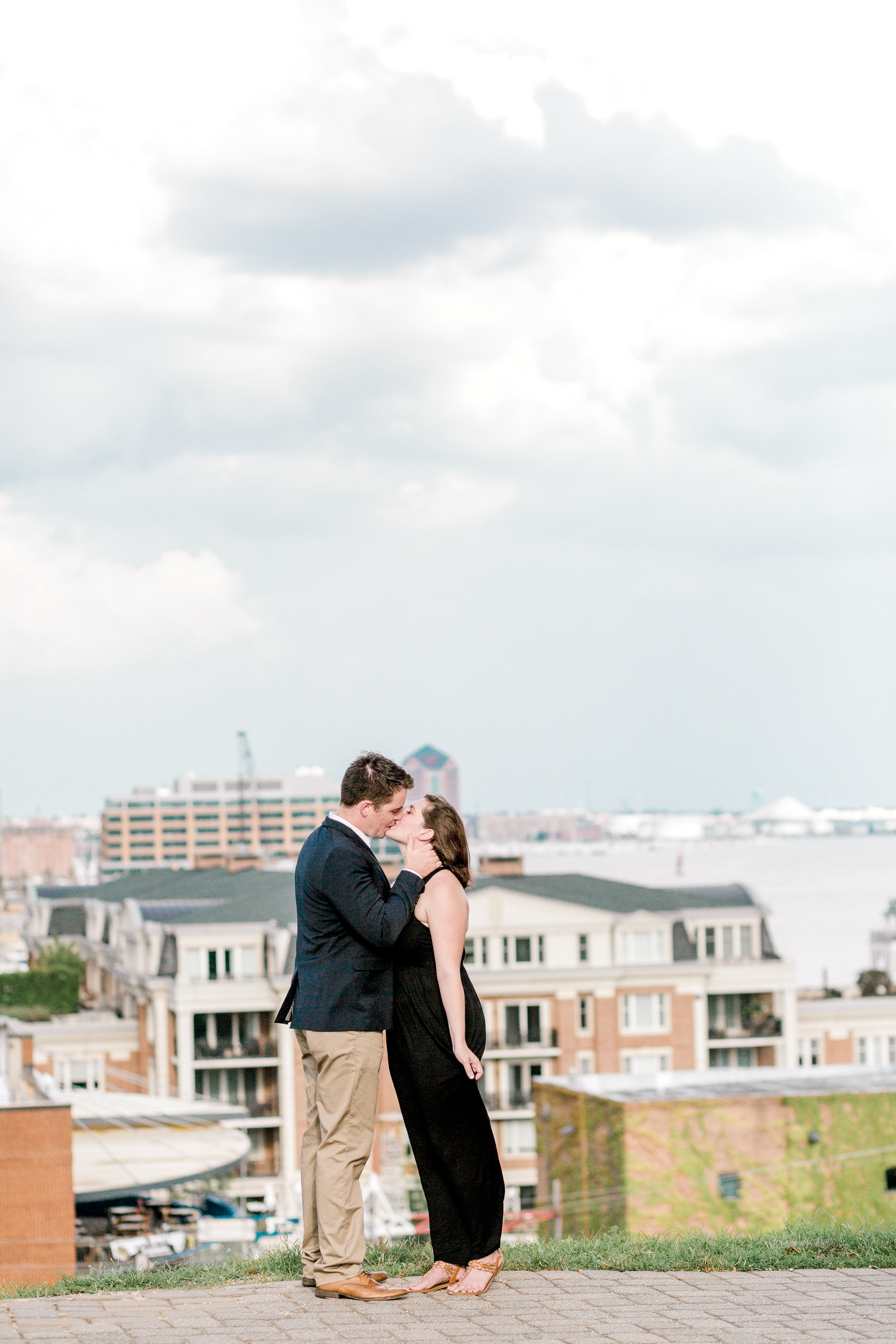 Baltimore Federal Hill Park Stormy Engagement Session Lytle Photo Co (10 of 92).jpg