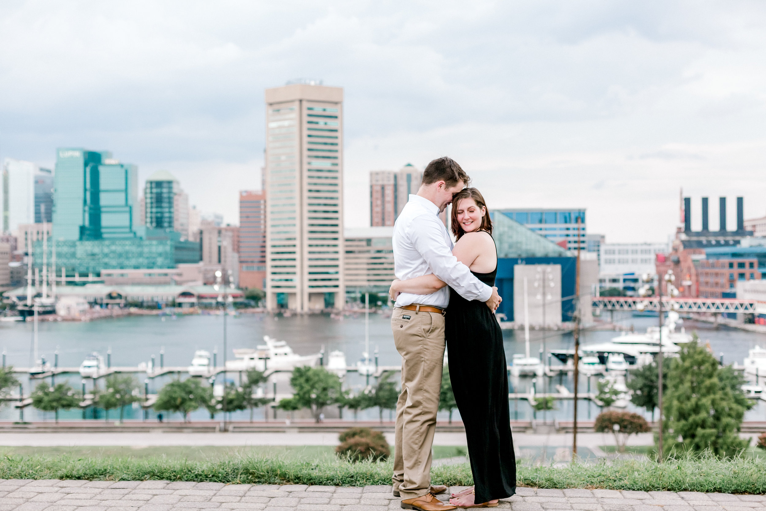 Baltimore Federal Hill Park Stormy Engagement Session Lytle Photo Co (25 of 92).jpg