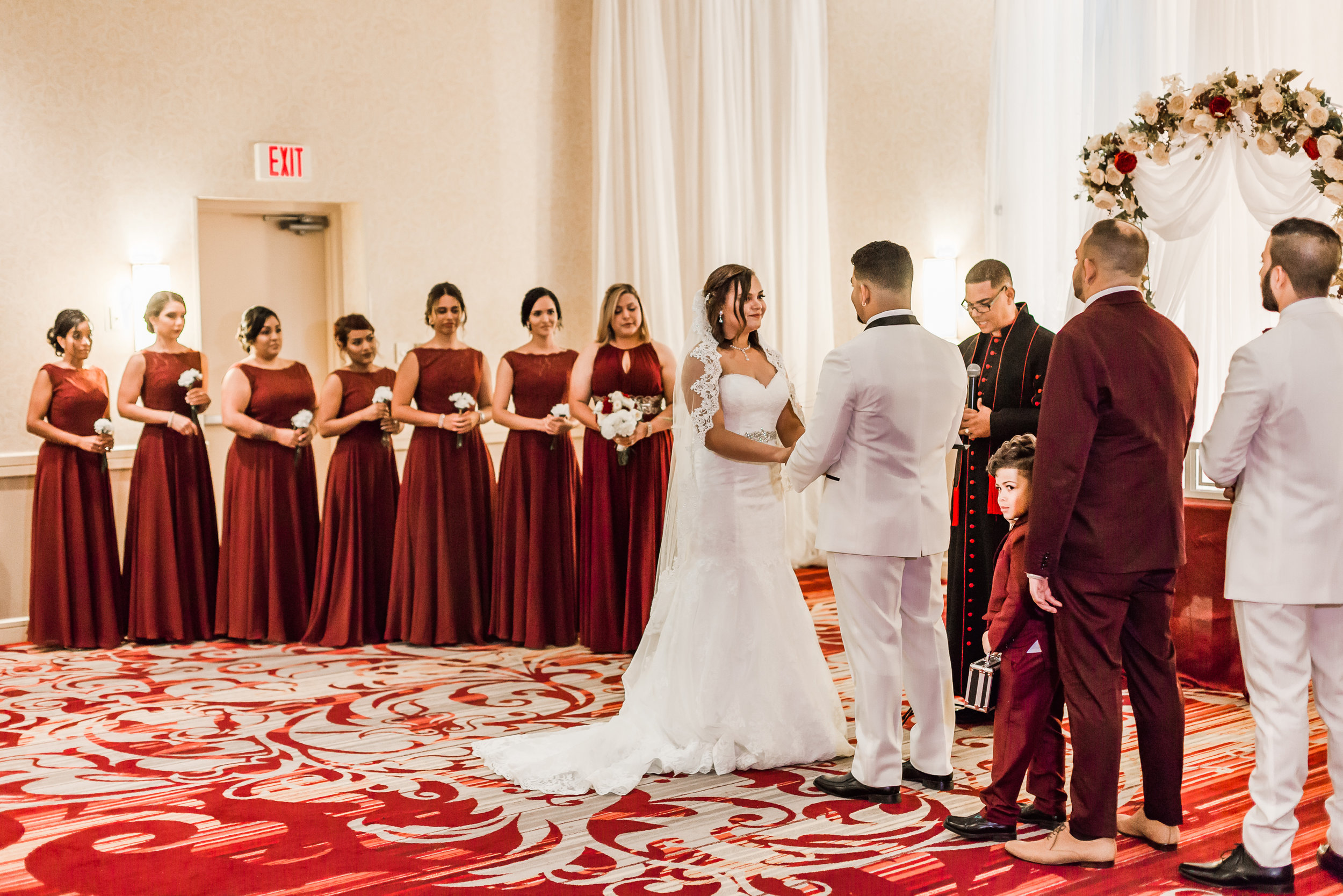 Crowne Plaza Hotel Reading Pennsylvania burgandy and gold  Wedding Lytle Photo Co (180 of 194).jpg