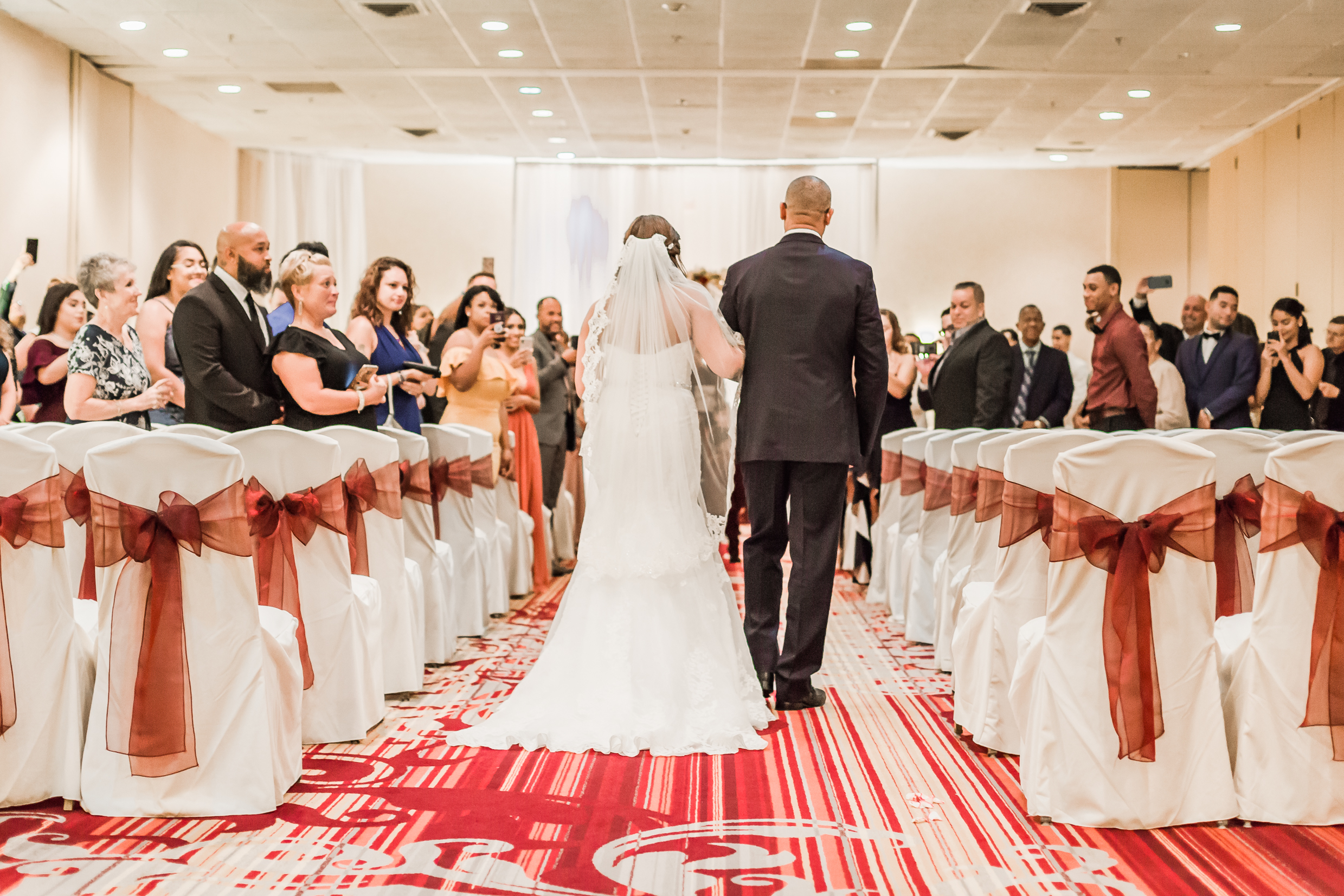 Crowne Plaza Hotel Reading Pennsylvania burgandy and gold  Wedding Lytle Photo Co (1 of 1)-2.jpg