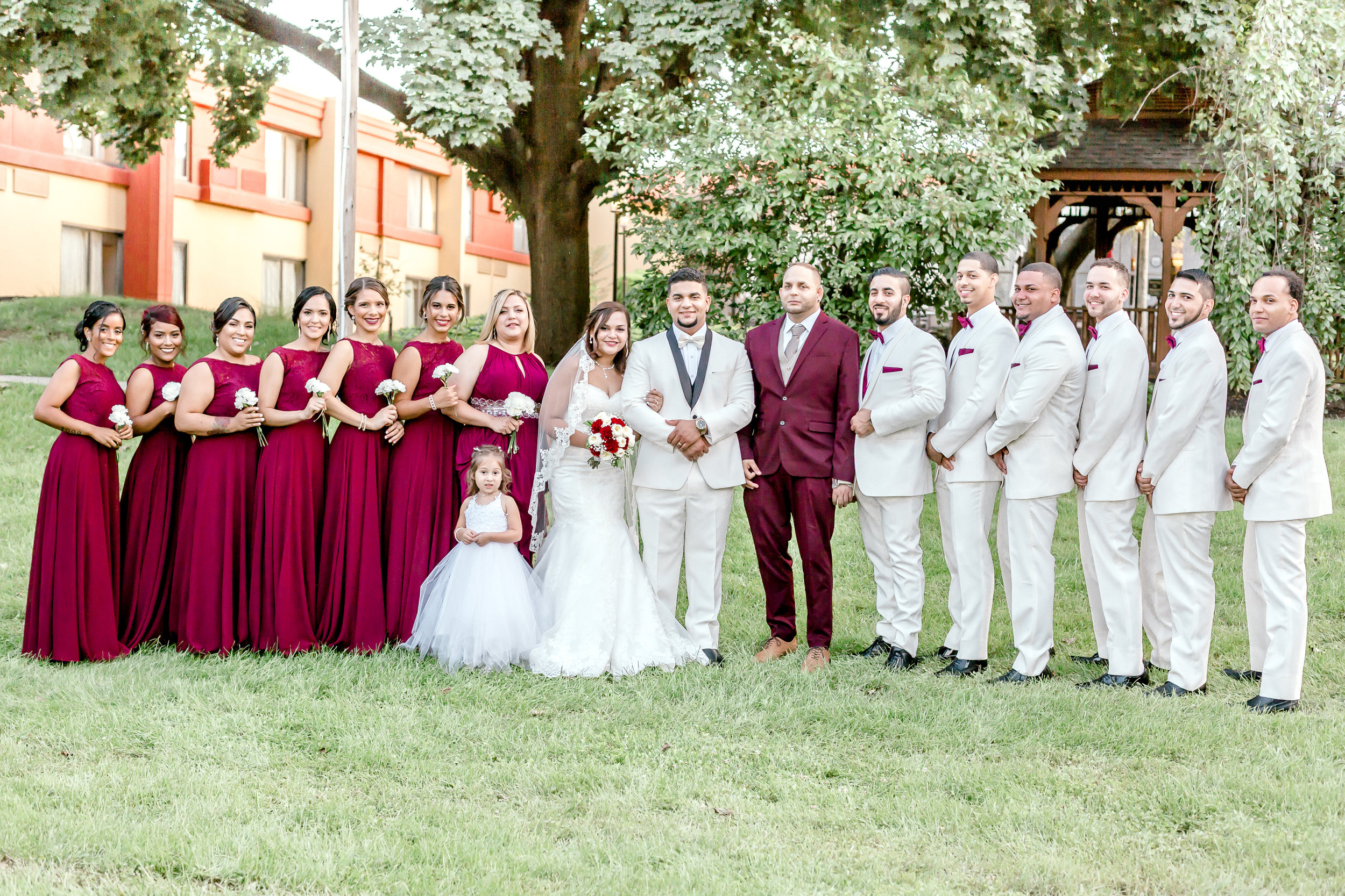 Crowne Plaza Hotel Reading Pennsylvania burgandy and gold  Wedding Lytle Photo Co (1 of 1)-4.jpg
