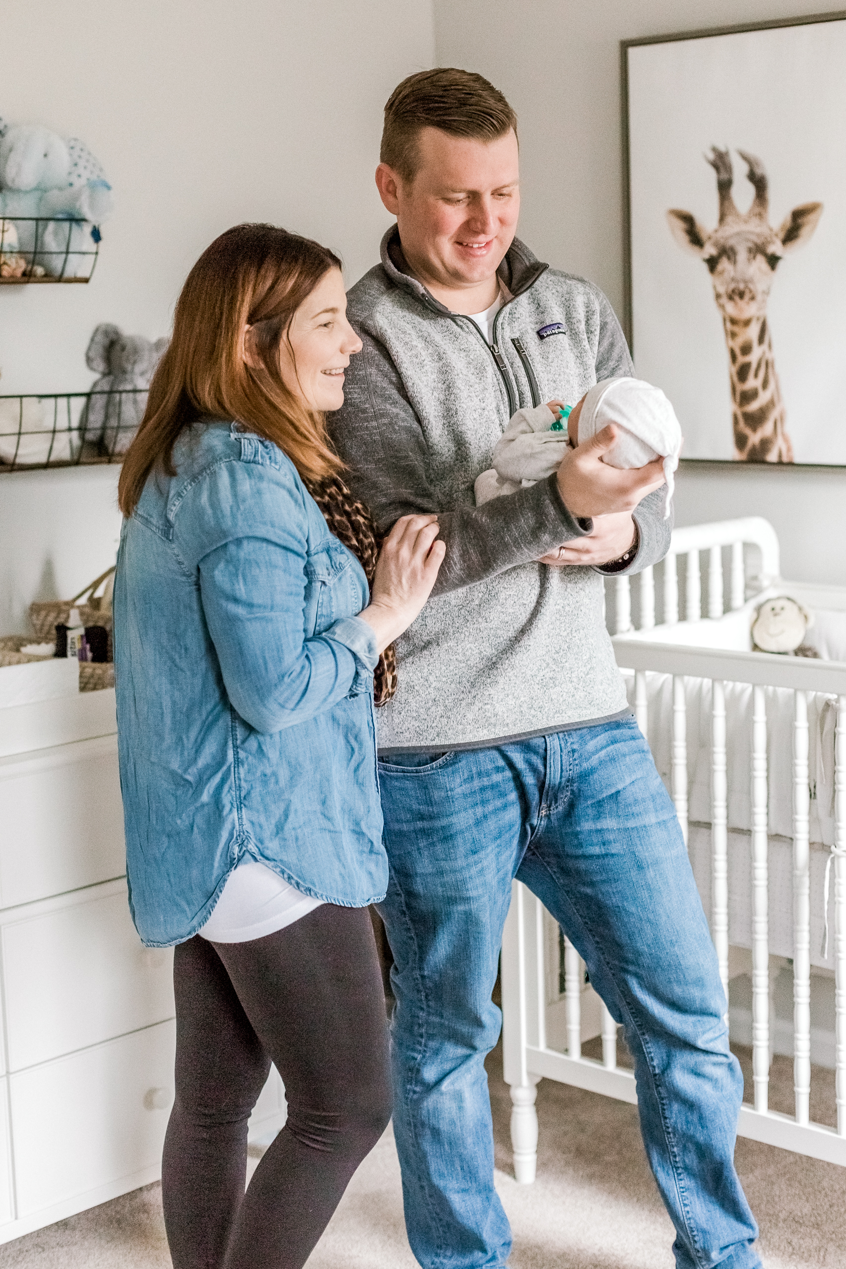 Blue Bell Pennsylvania In home newborn session with dog white and gray animal nursery wedding and lifestyle photographer Lytle Photo Co (61 of 109).jpg