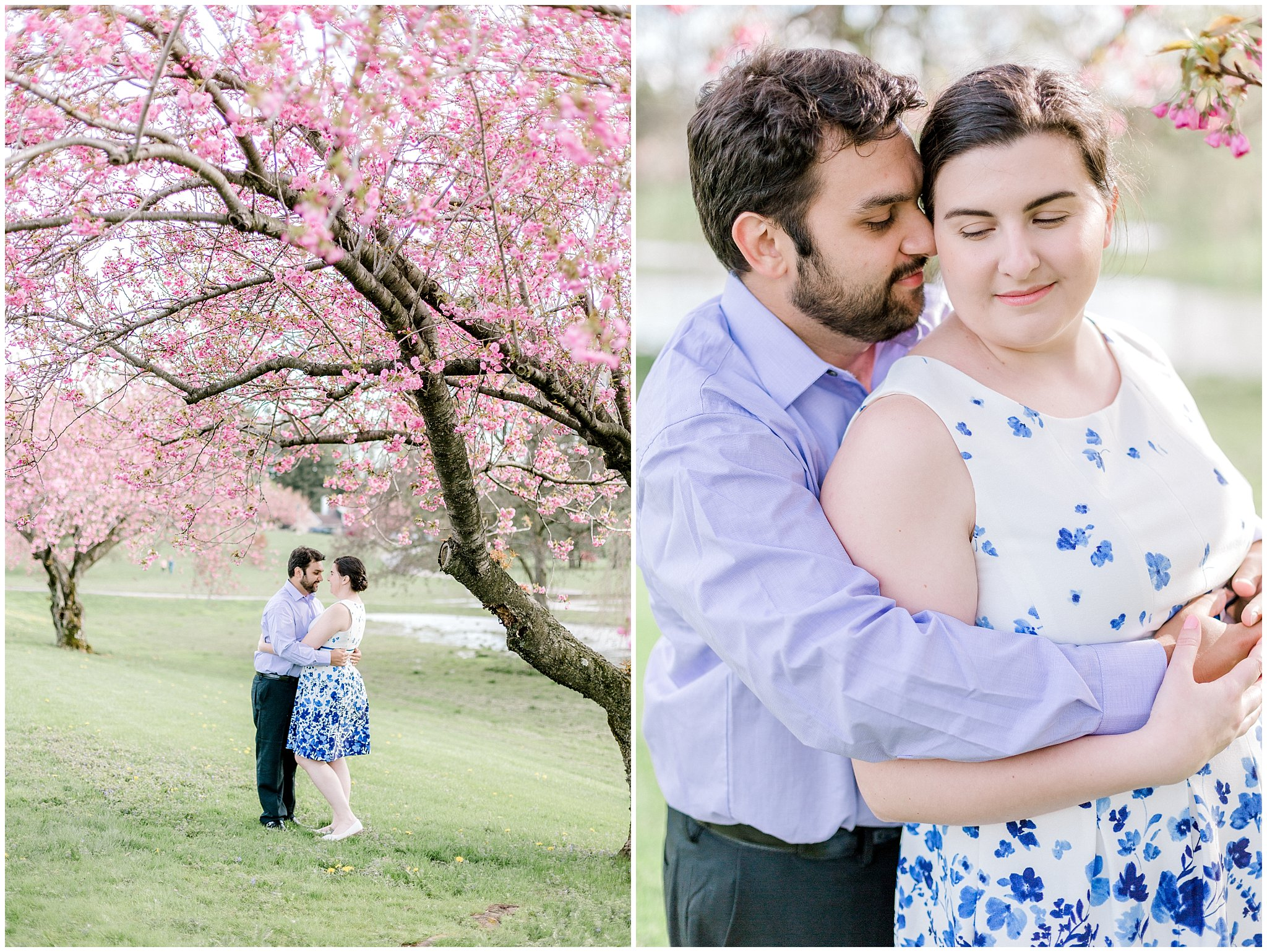 Lehigh Valley Spring Cherry Blossom Engagement Session Pennsylvania Wedding Photographer (7).jpg