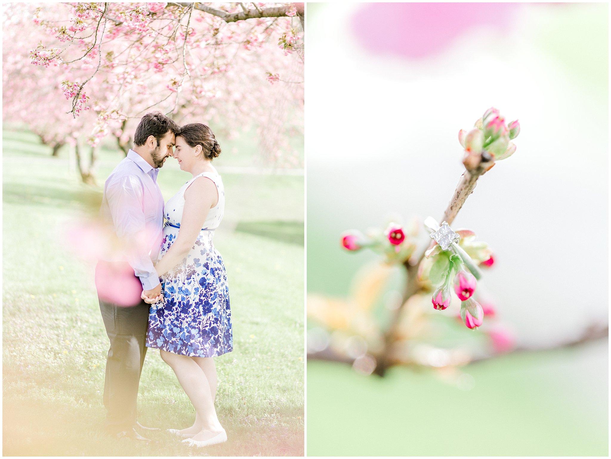 Lehigh Valley Spring Cherry Blossom Engagement Session Pennsylvania Wedding Photographer (11).jpg