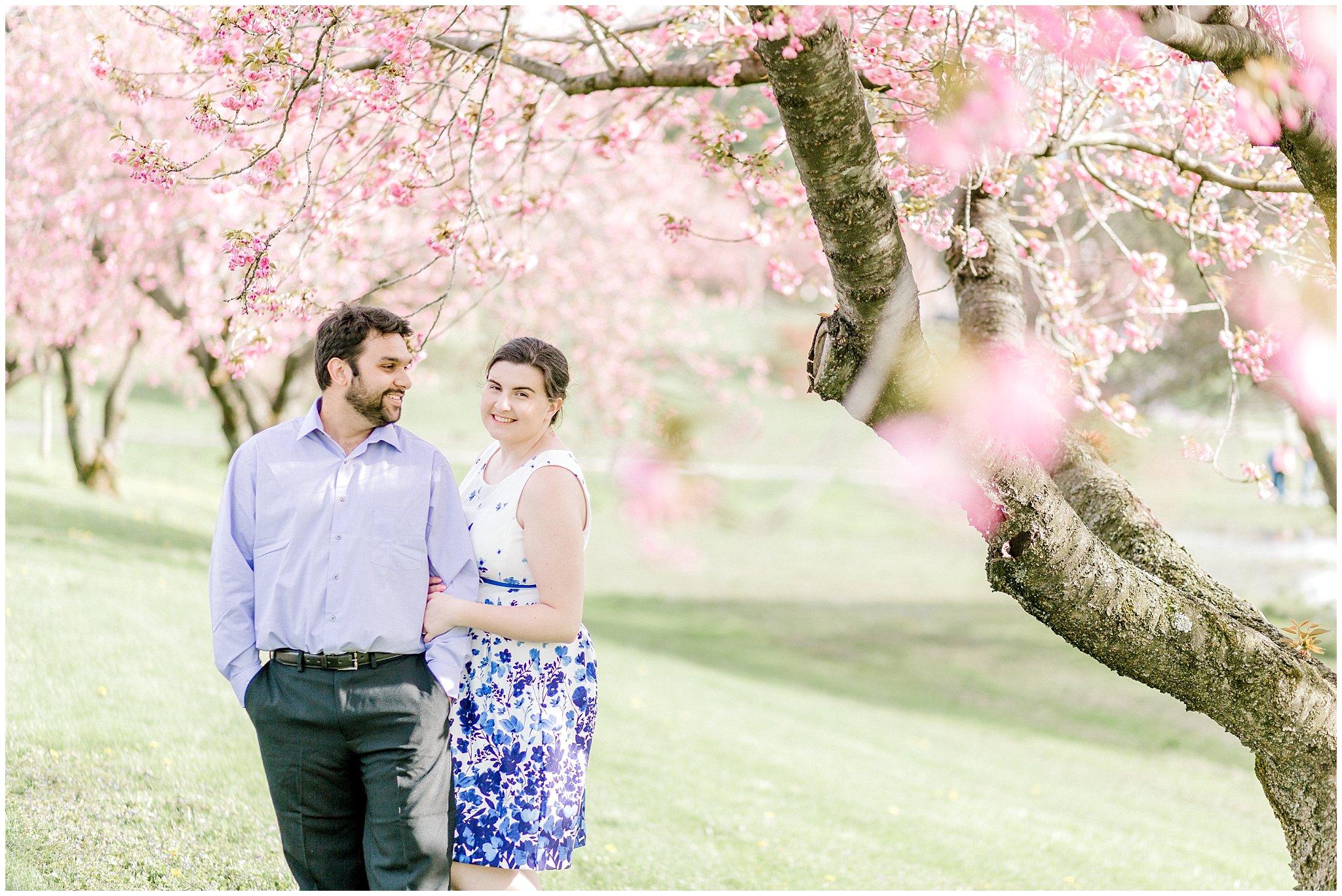 Lehigh Valley Spring Cherry Blossom Engagement Session Pennsylvania Wedding Photographer (10).jpg