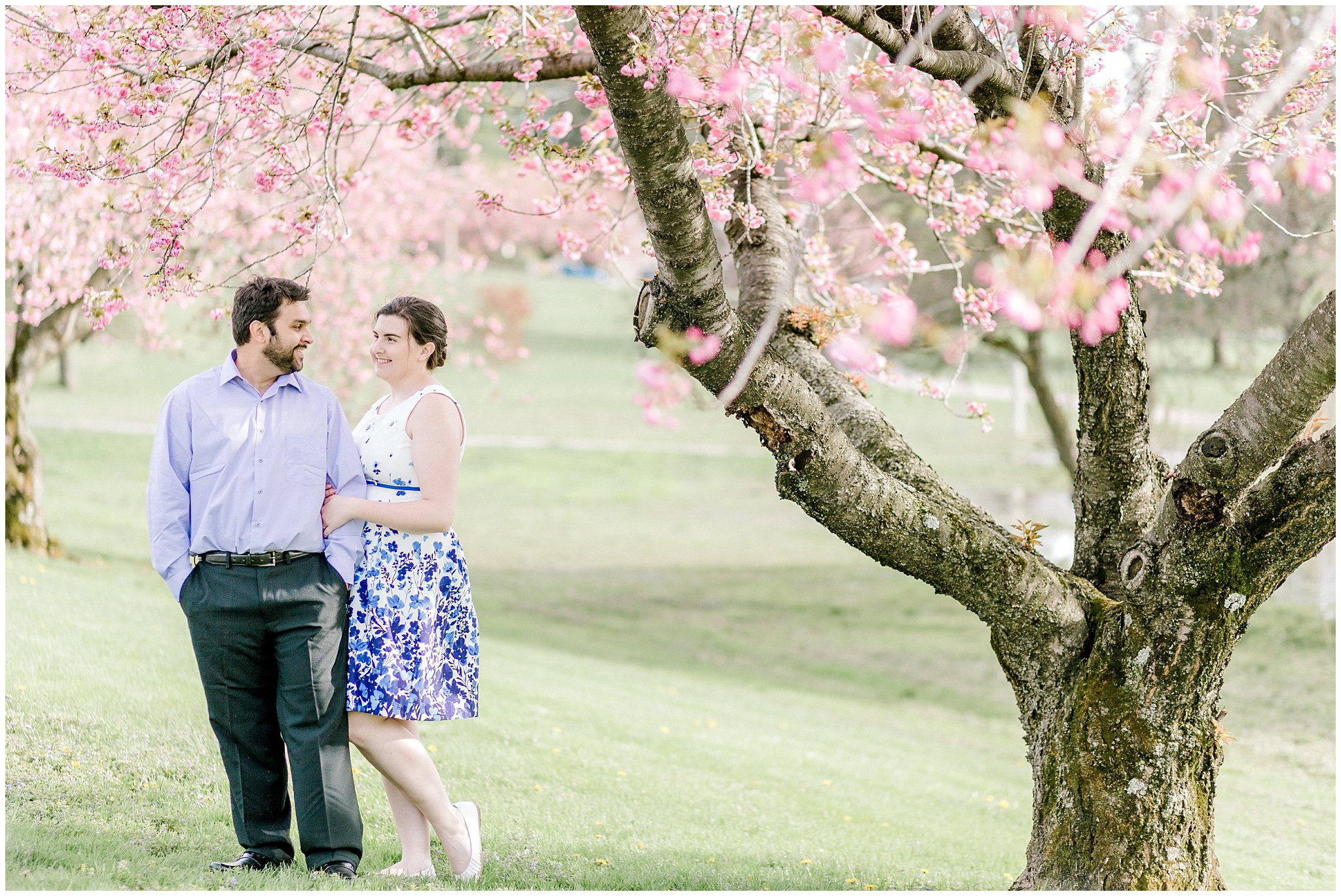 Lehigh Valley Spring Cherry Blossom Engagement Session Pennsylvania Wedding Photographer (12).jpg