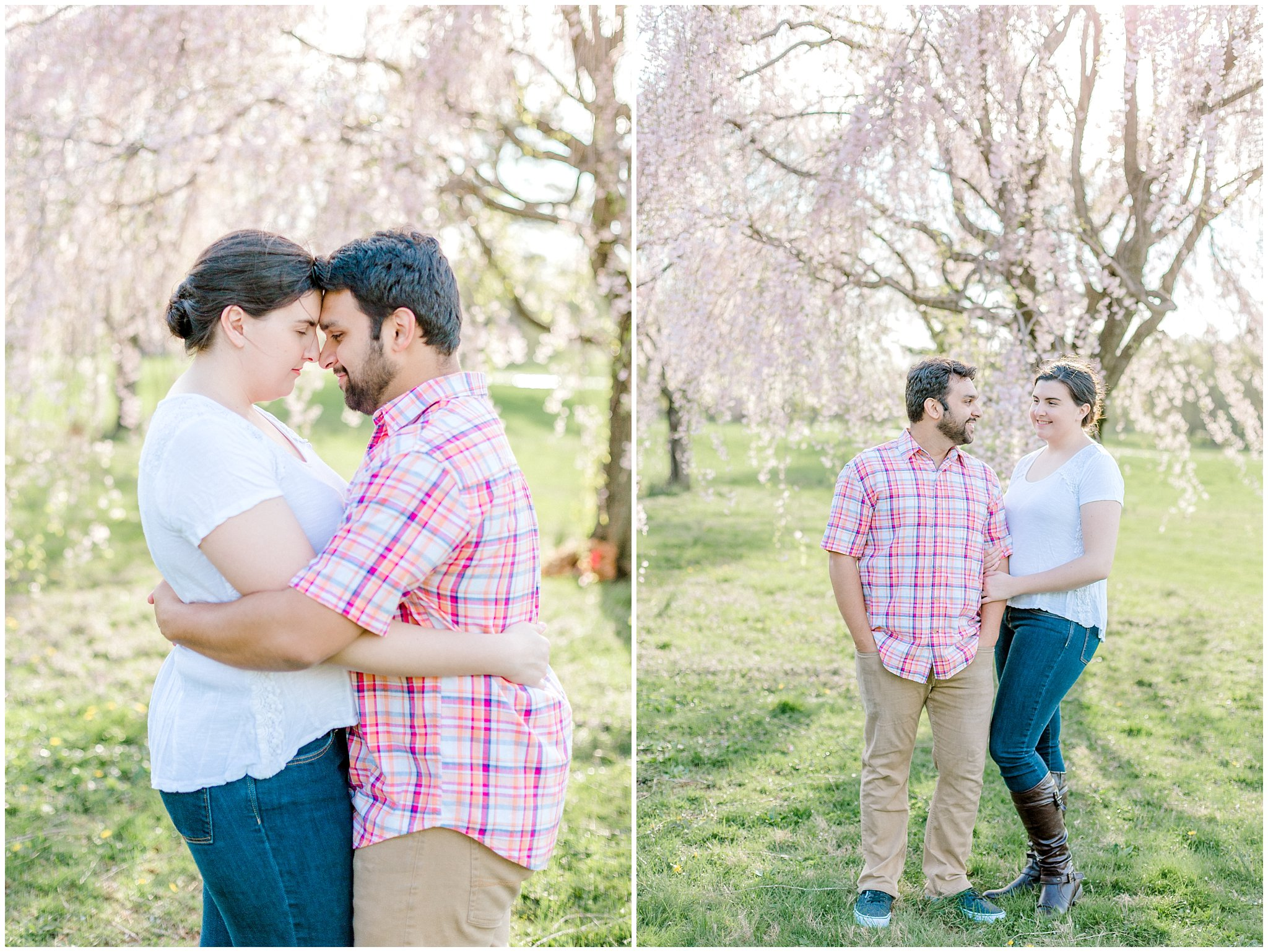Lehigh Valley Spring Cherry Blossom Engagement Session Pennsylvania Wedding Photographer (16).jpg