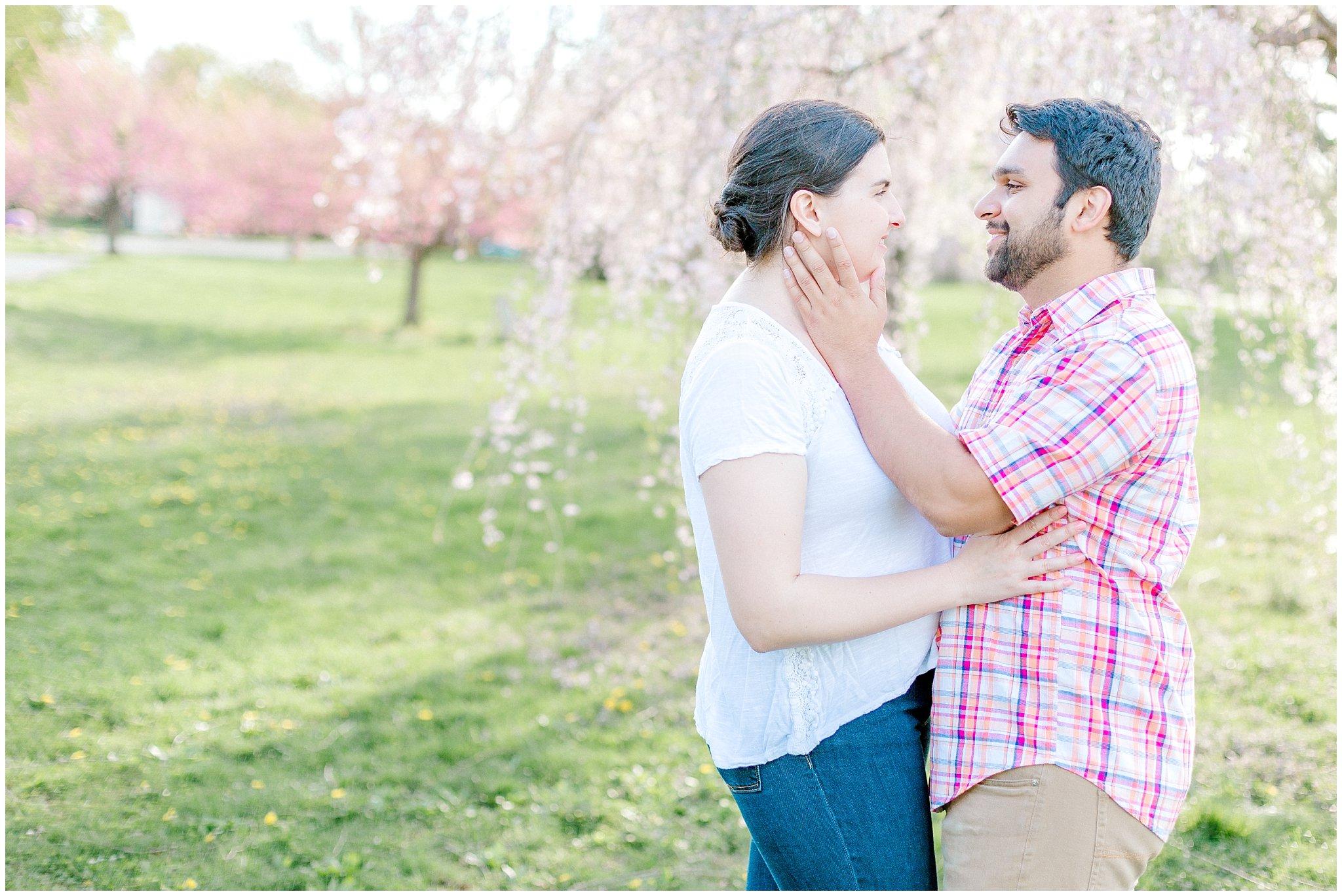 Lehigh Valley Spring Cherry Blossom Engagement Session Pennsylvania Wedding Photographer (17).jpg