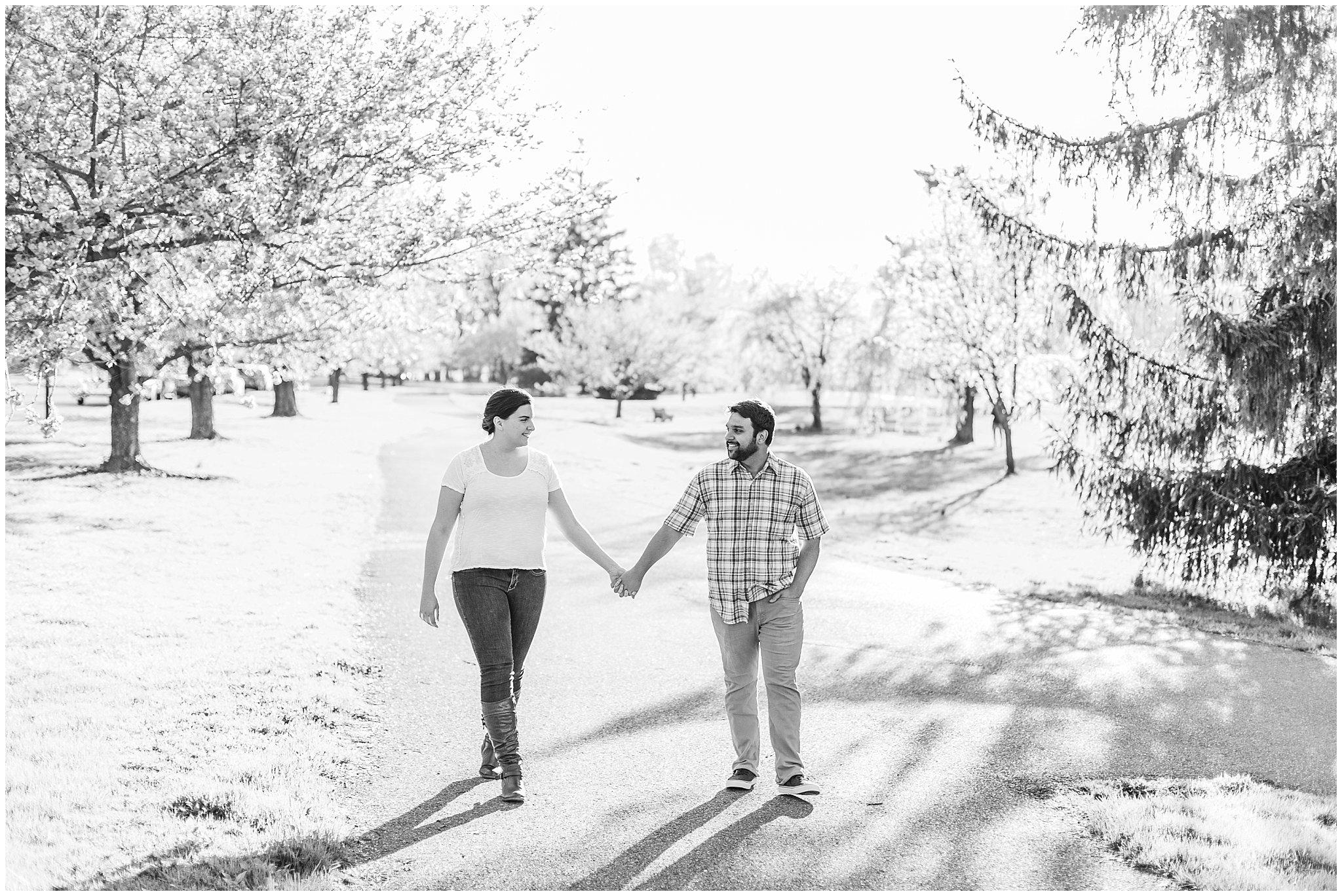 Lehigh Valley Spring Cherry Blossom Engagement Session Pennsylvania Wedding Photographer (26).jpg