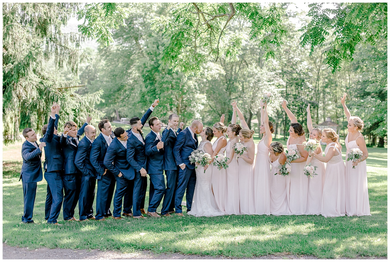 Navy and Blush pink inspired summertime whitewoods wedding in Northeastern Pennsylvania NEPA wapwallopen wedding venue by  PA based wedding and lifestyle photographer Lytle photography_0027.jpg