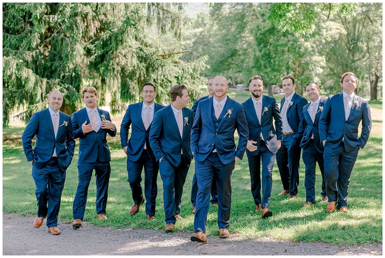 Navy and Blush pink inspired summertime whitewoods wedding in Northeastern Pennsylvania NEPA wapwallopen wedding venue by  PA based wedding and lifestyle photographer Lytle photography_0030.jpg