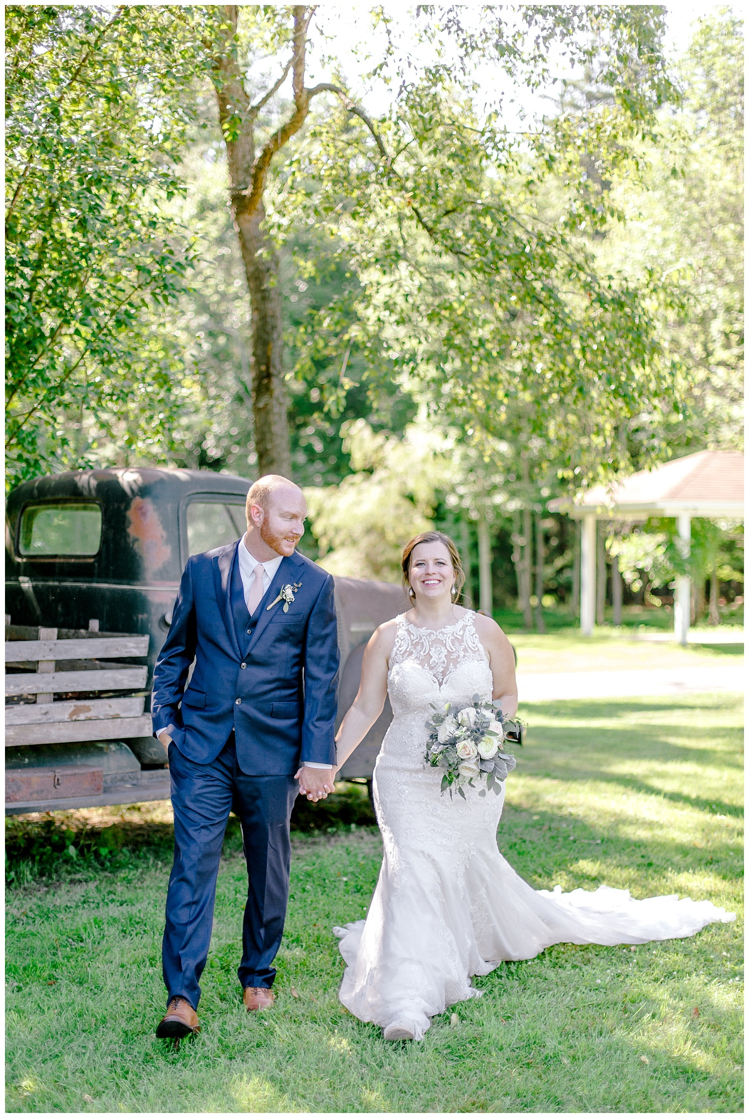 Navy and Blush pink inspired summertime whitewoods wedding in Northeastern Pennsylvania NEPA wapwallopen wedding venue by  PA based wedding and lifestyle photographer Lytle photography_0033.jpg