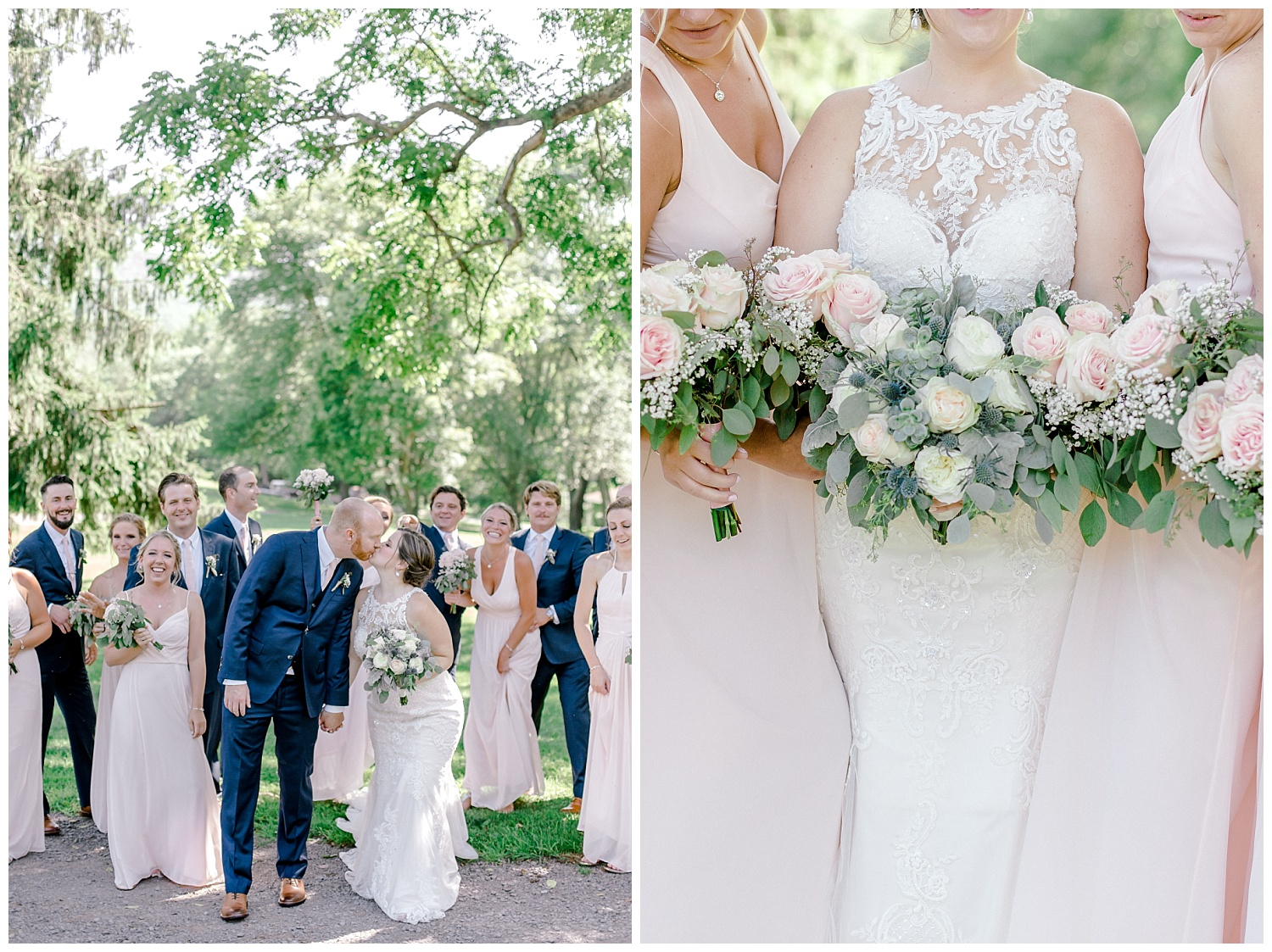 Navy and Blush pink inspired summertime whitewoods wedding in Northeastern Pennsylvania NEPA wapwallopen wedding venue by  PA based wedding and lifestyle photographer Lytle photography_0069.jpg