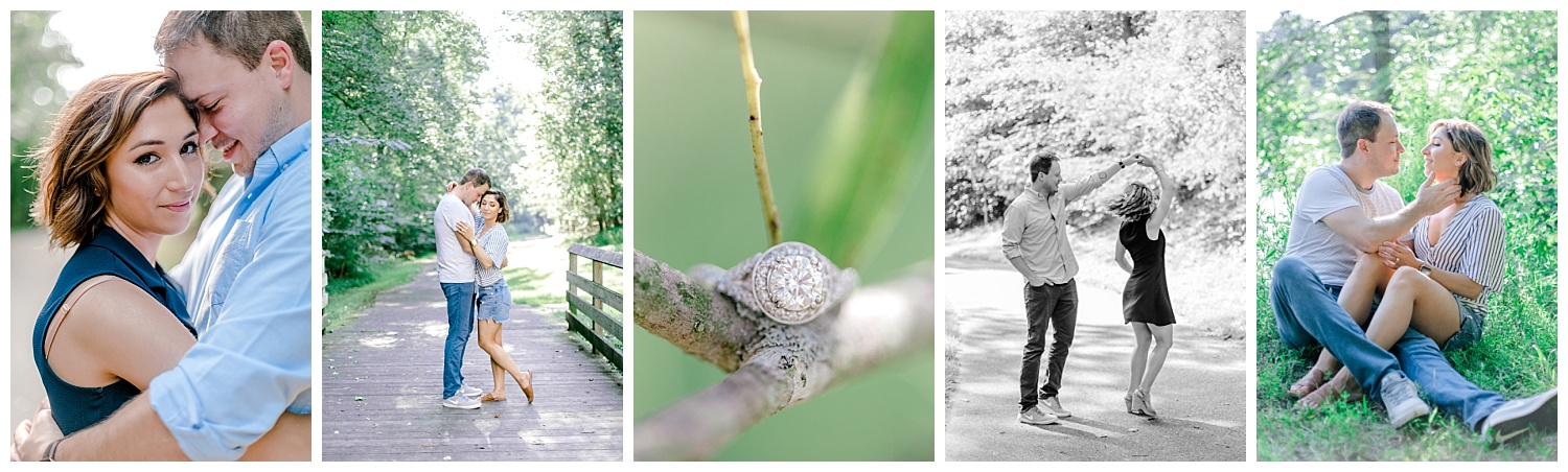 Wooded sunny Summertime engagement session in Odenton Maryland by Pennsylvania based wedding and lifestyle photographer Lytle photography_0018.jpg